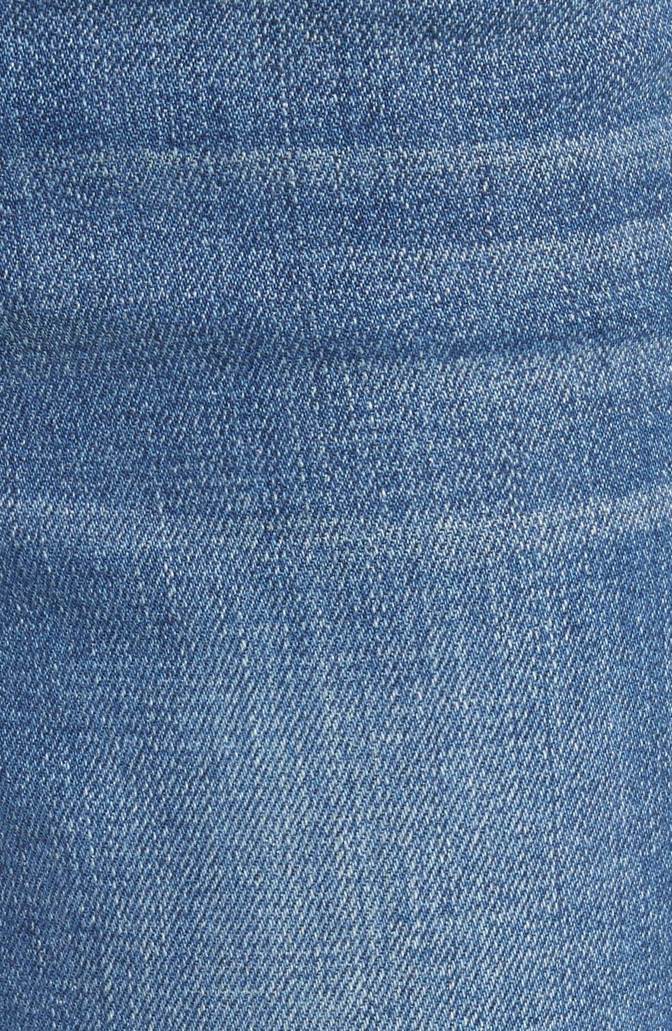 Anjelique Studded Ankle Skinny Jeans,                             Alternate thumbnail 5, color,                             400