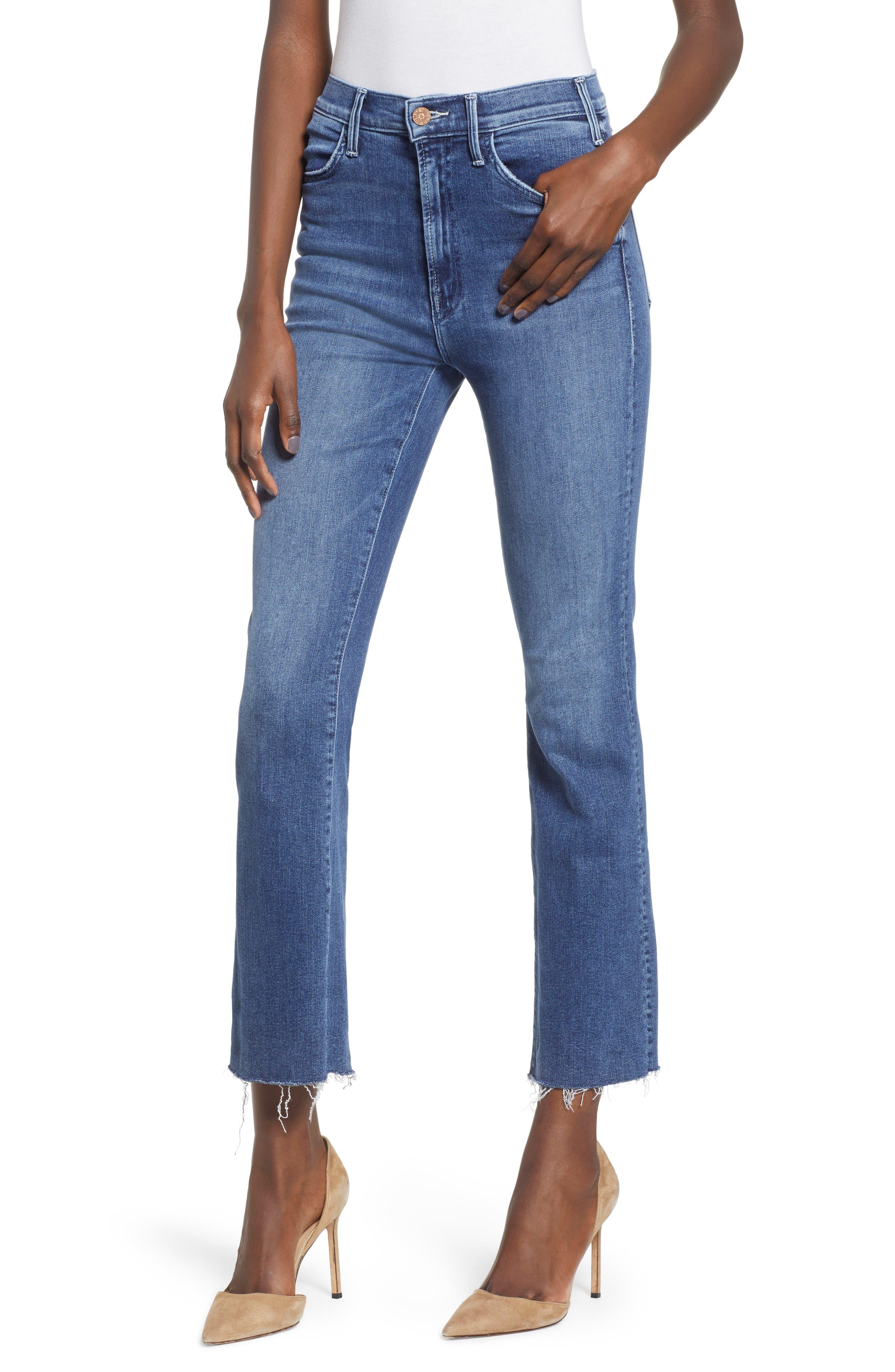 Hustler Fray Ankle Bootcut Jeans,                         Main,                         color, GROOVIN