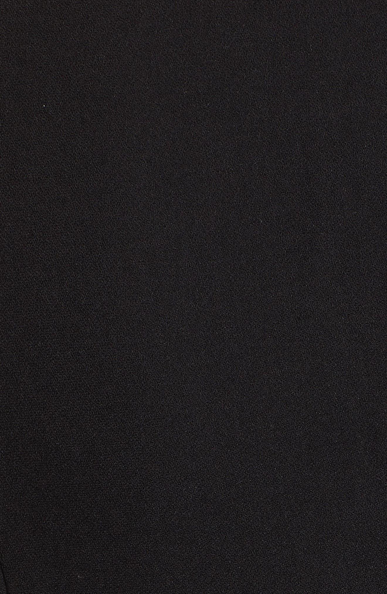 Lillien Graceful Embroidered Detail Dress,                             Alternate thumbnail 5, color,                             BLACK