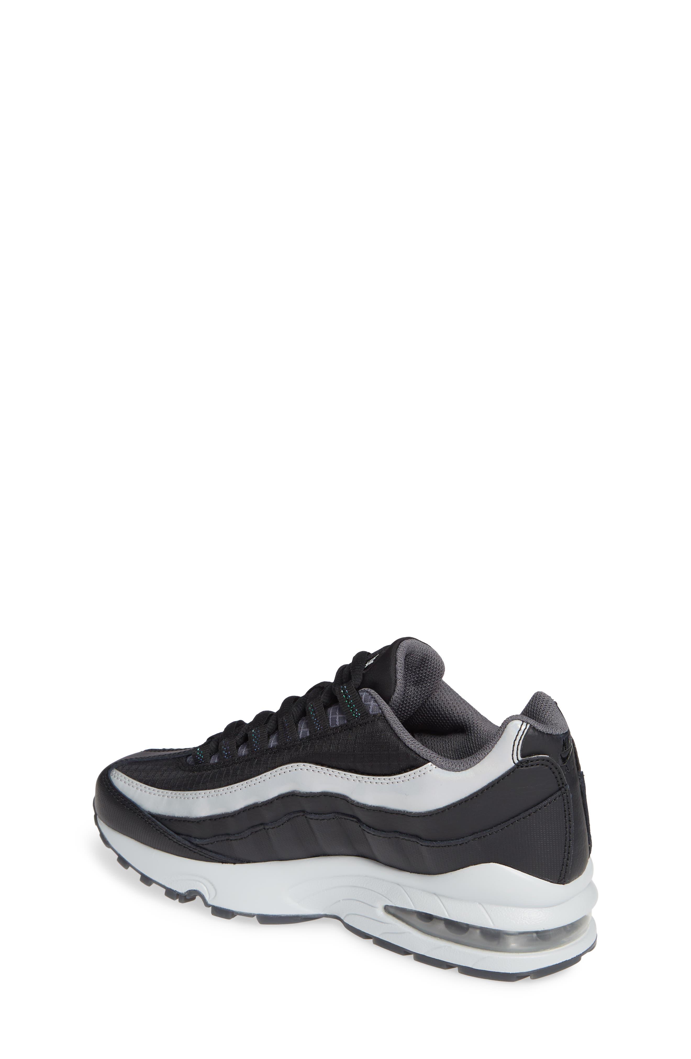 Air Max 95 Y2K Sneaker,                             Alternate thumbnail 2, color,                             BLACK METALLIC SILVER