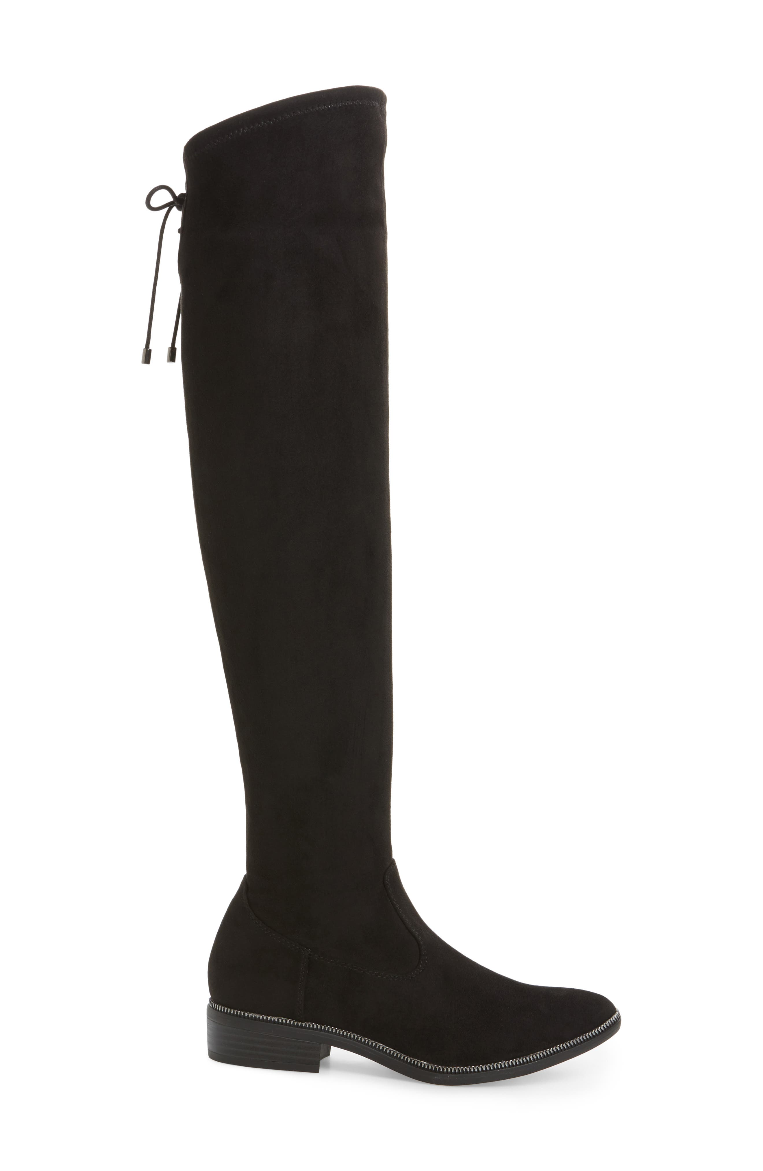 Phanie Over the Knee Stretch Boot,                             Alternate thumbnail 3, color,                             001
