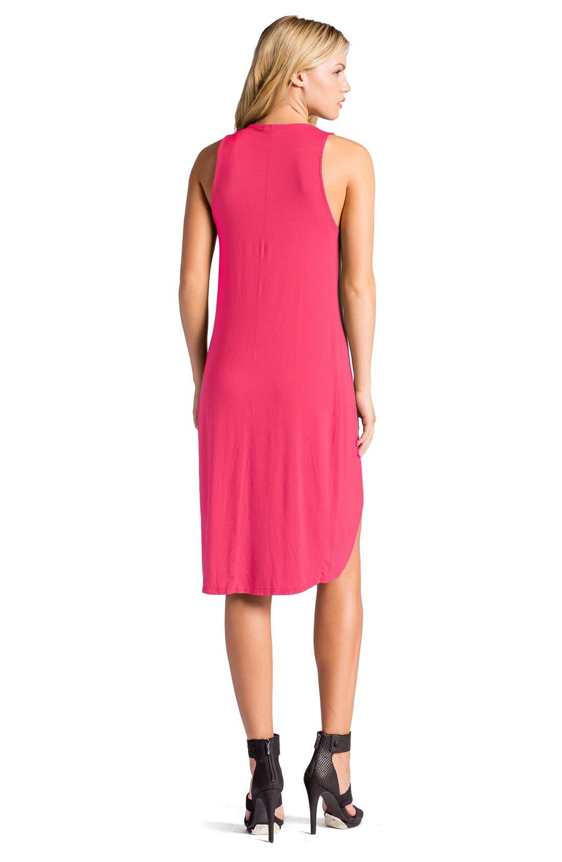 Elba Asymmetrical Hem Sleeveless Jersey Dress,                             Alternate thumbnail 10, color,