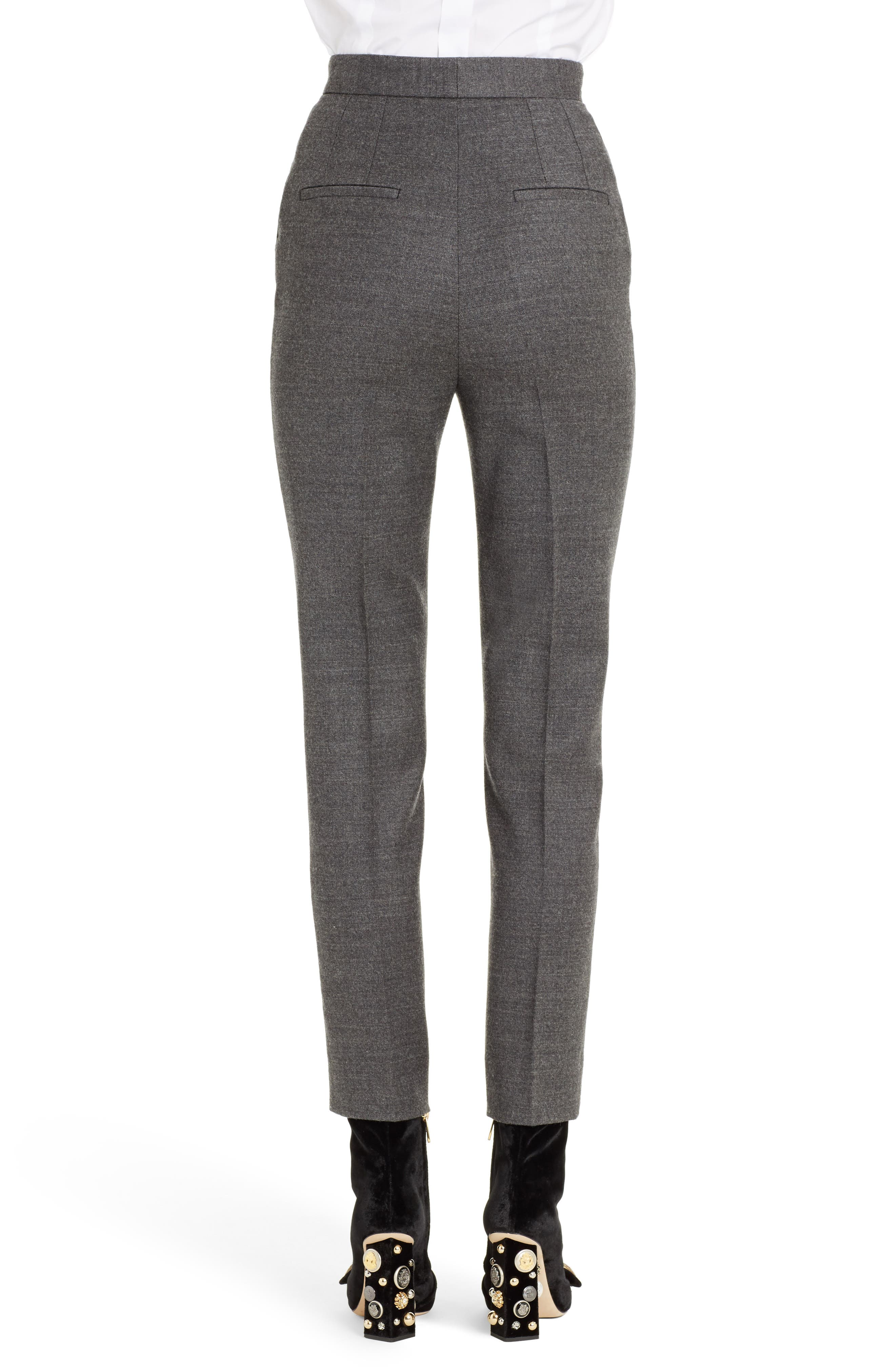 Stretch Wool Flannel Pants,                             Alternate thumbnail 2, color,                             021