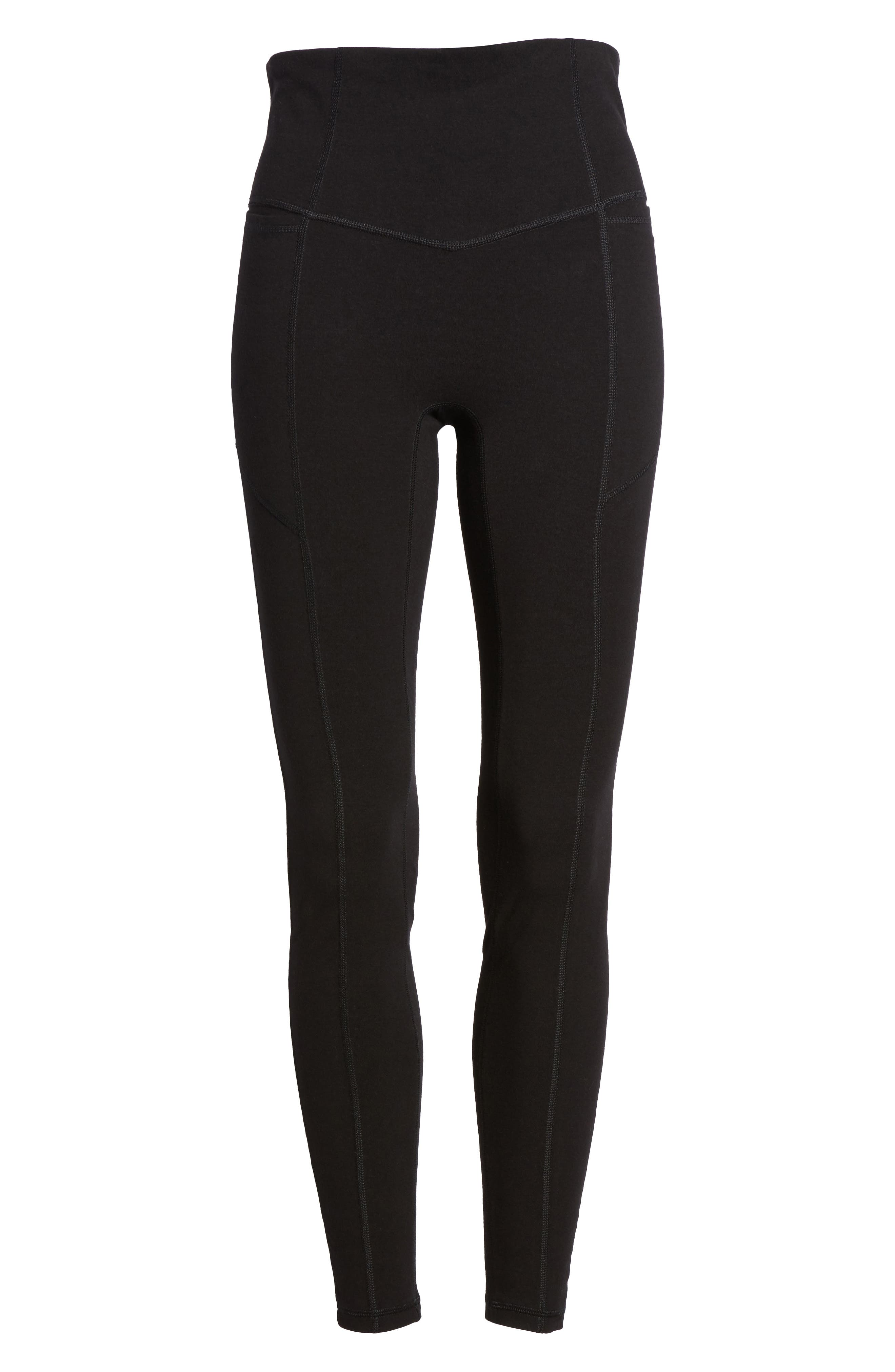 HUE,                             Hold It High Waist Leggings,                             Alternate thumbnail 6, color,                             001