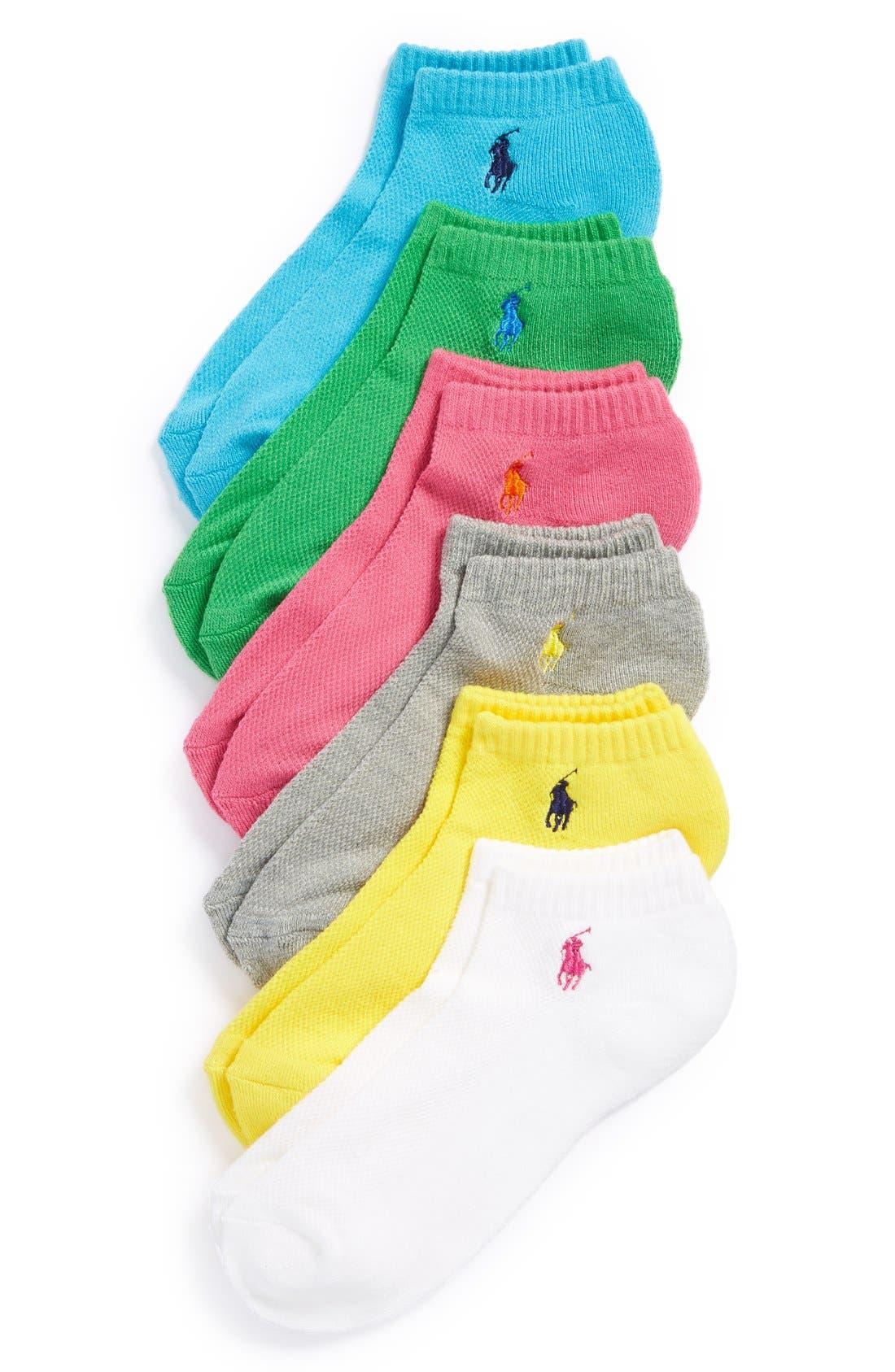 Sport 6-Pack Low-Cut Socks,                             Main thumbnail 4, color,