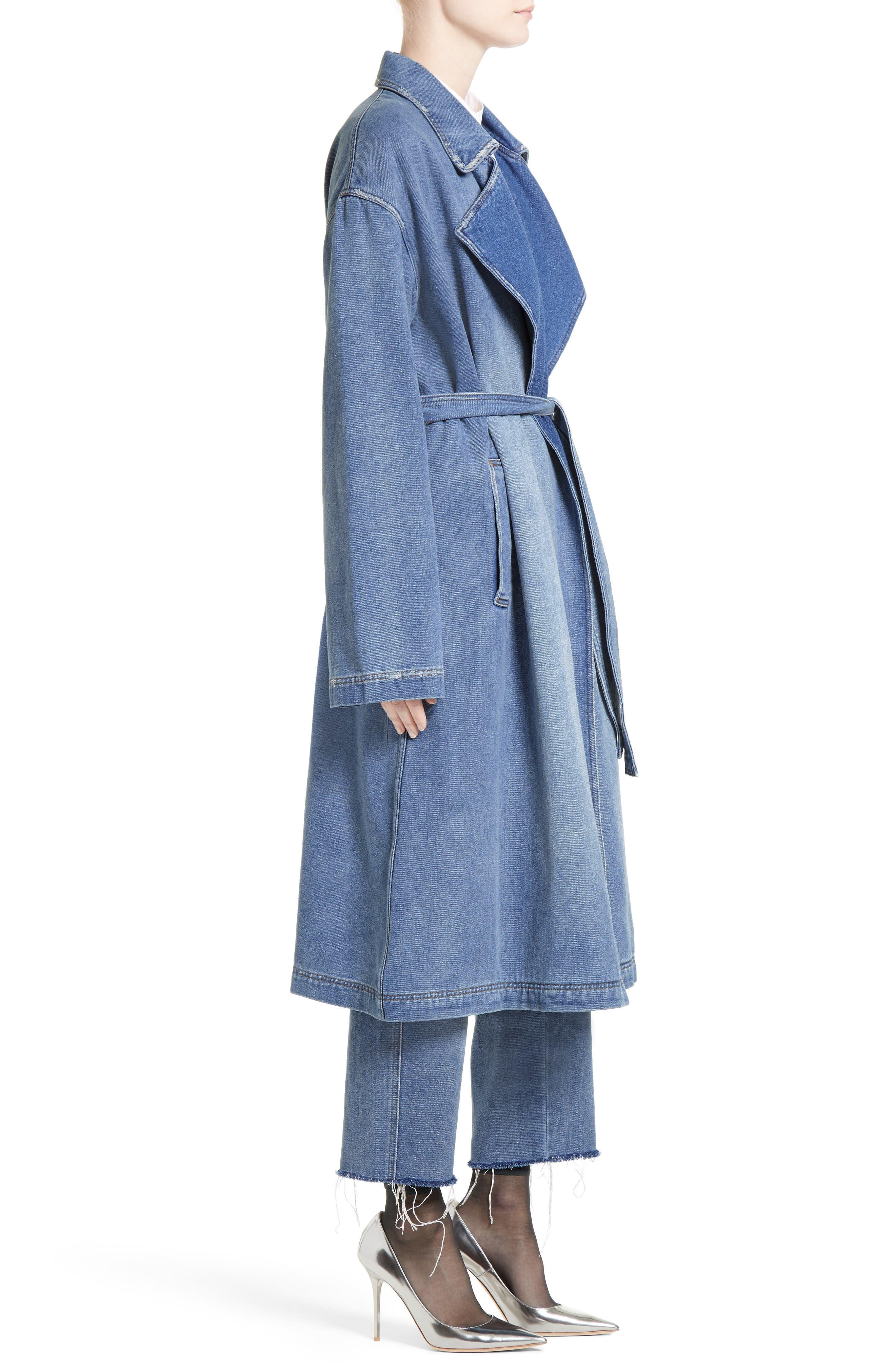 Denim Trench Coat,                             Alternate thumbnail 3, color,                             420