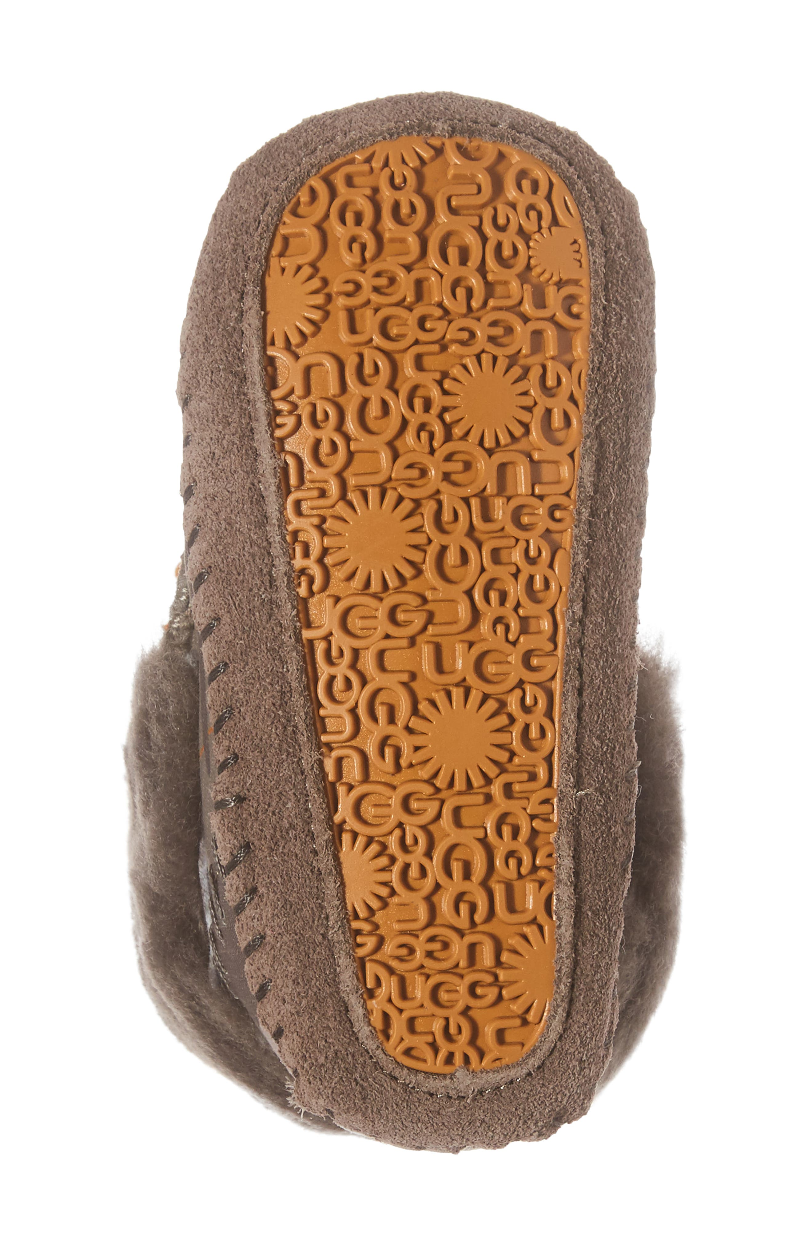 Sparrow Camo Genuine Shearling Moccasin Bootie,                             Alternate thumbnail 6, color,                             020