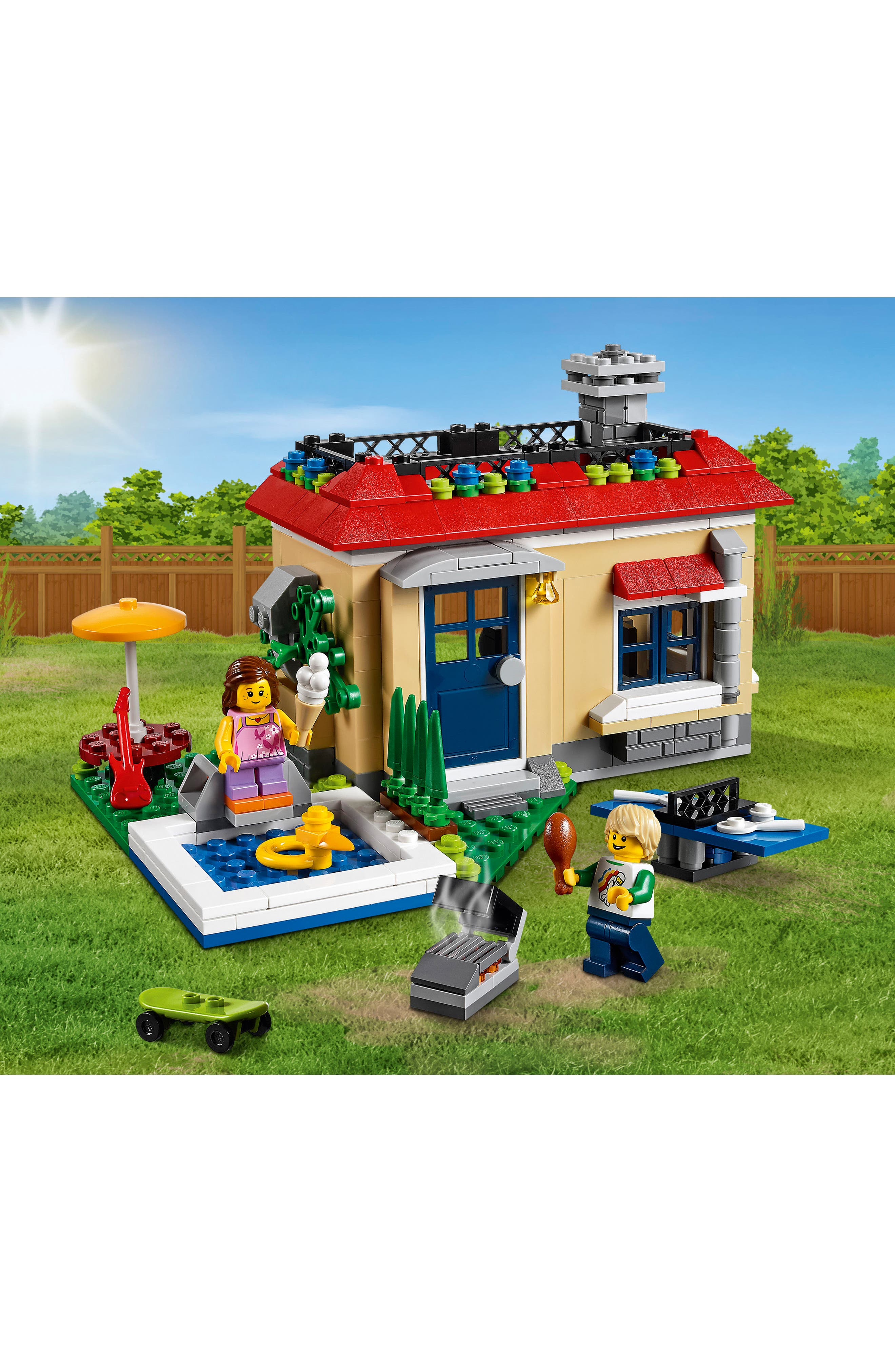 Creator 3-in-1 Modular Poolside Holiday Play Set - 31067,                             Alternate thumbnail 4, color,                             250