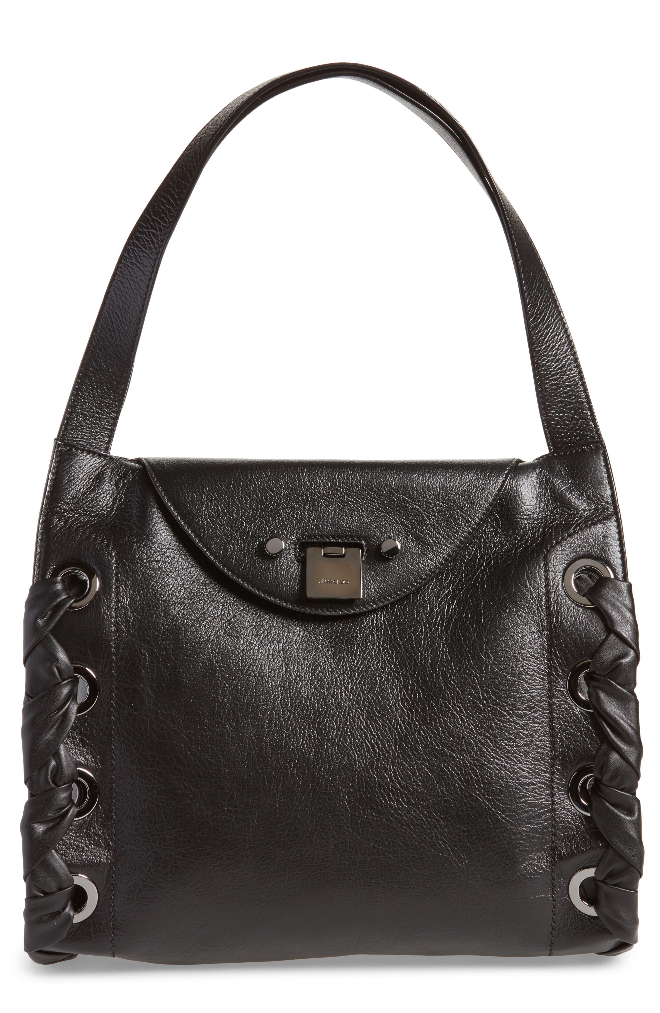 Rebel Leather Shoulder Bag,                             Main thumbnail 1, color,                             010