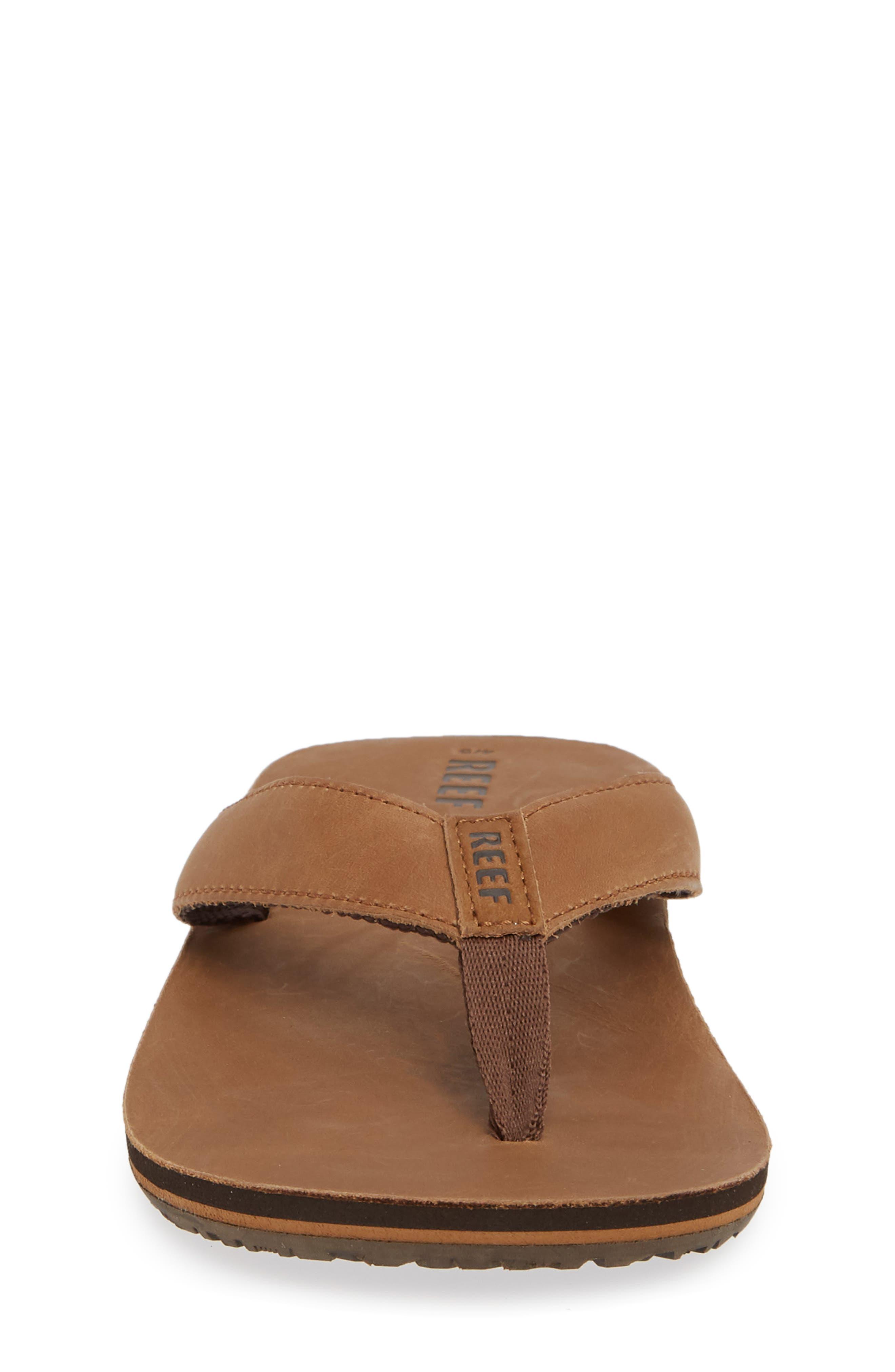 'Grom' Leather Flip-Flop,                             Alternate thumbnail 4, color,                             200