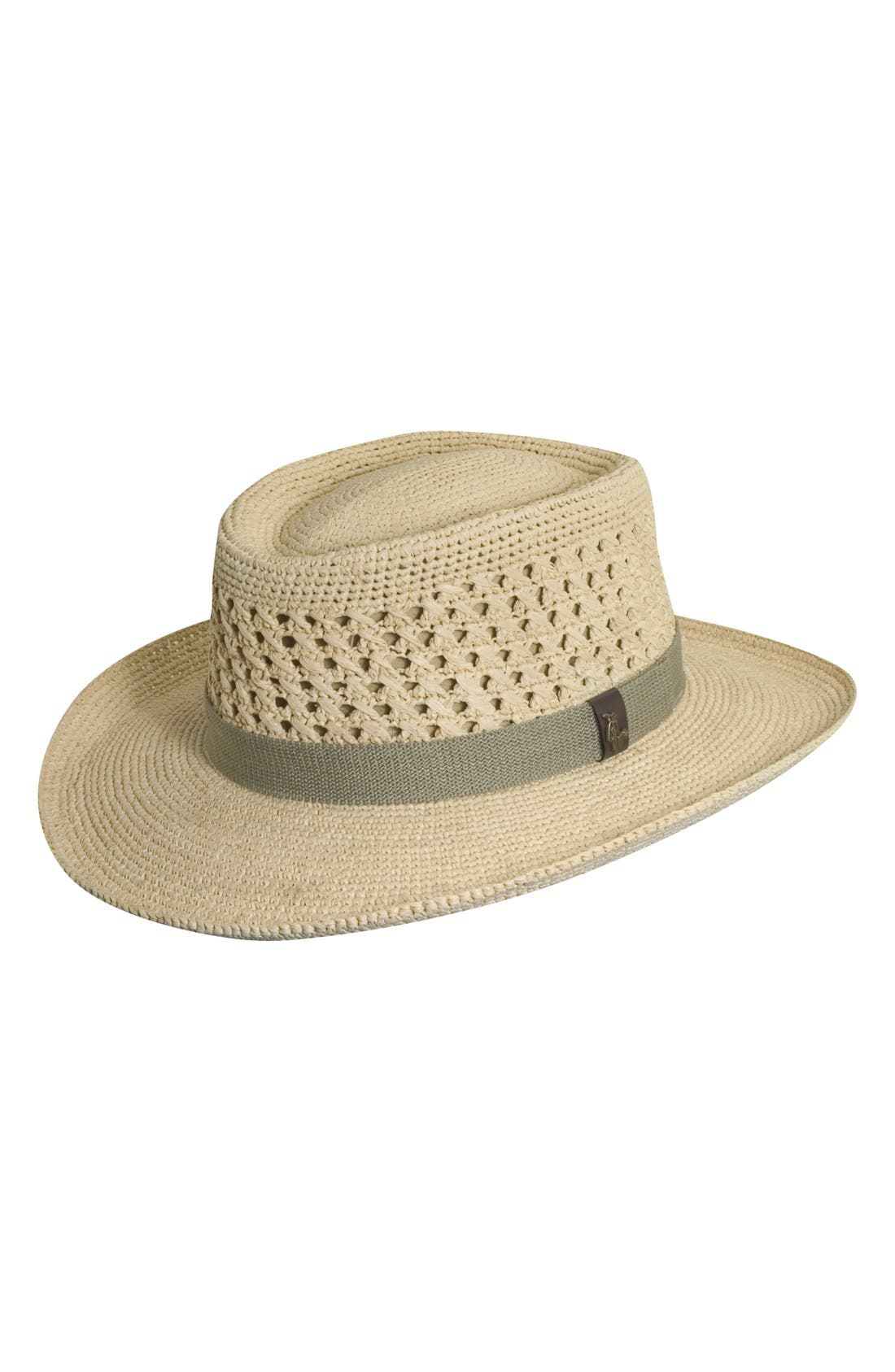 Raffia Gambler Hat,                         Main,                         color, 101