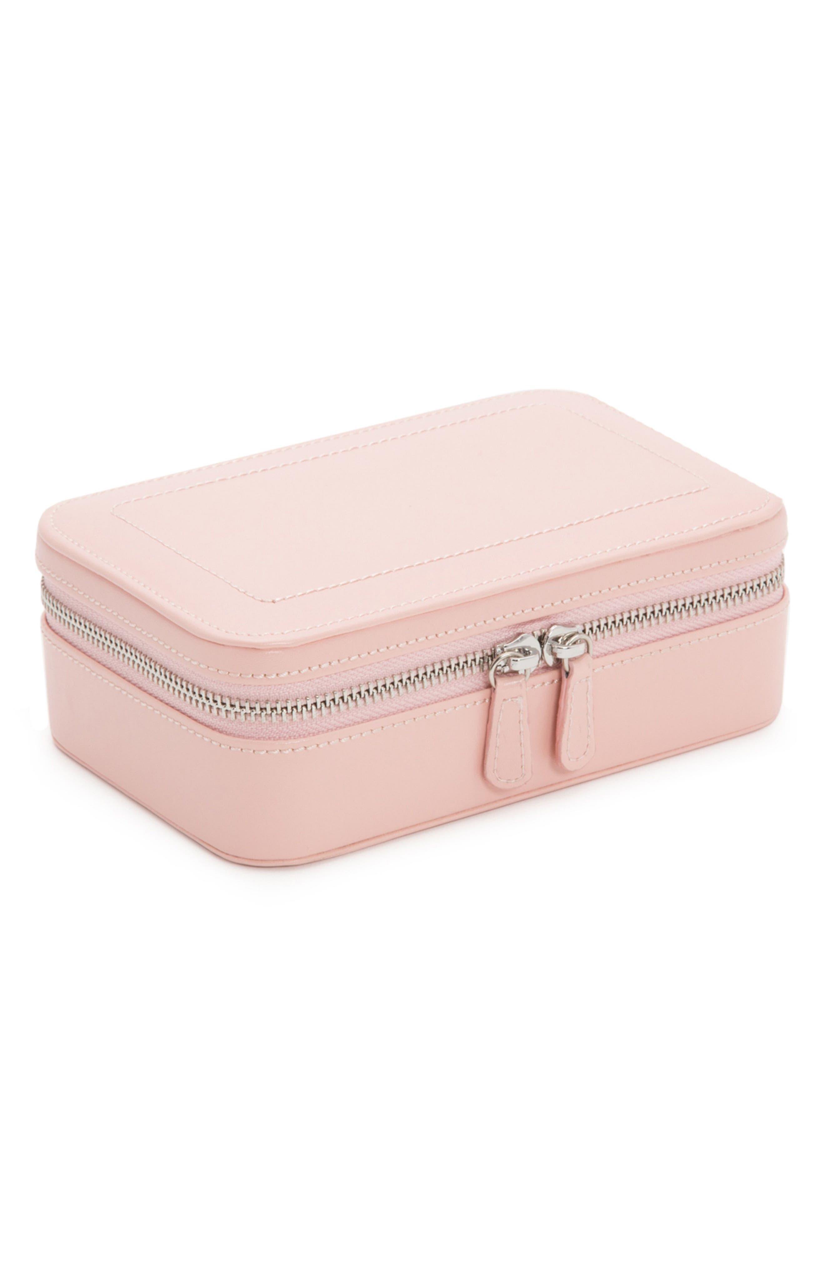 Sophia Rectangle Zip Case,                         Main,                         color, ROSE
