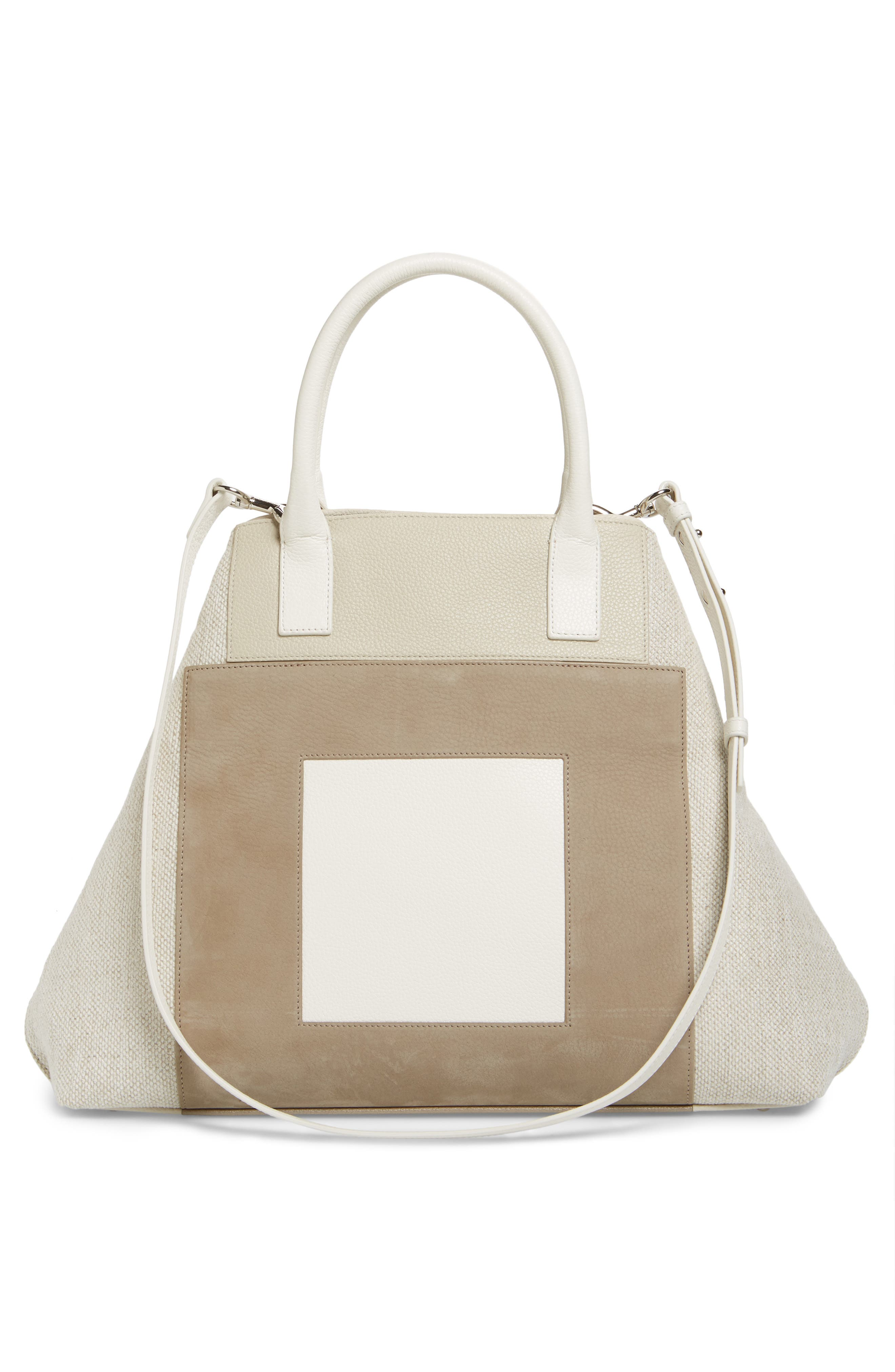 Medium AI Leather & Canvas Tote,                             Alternate thumbnail 3, color,                             283