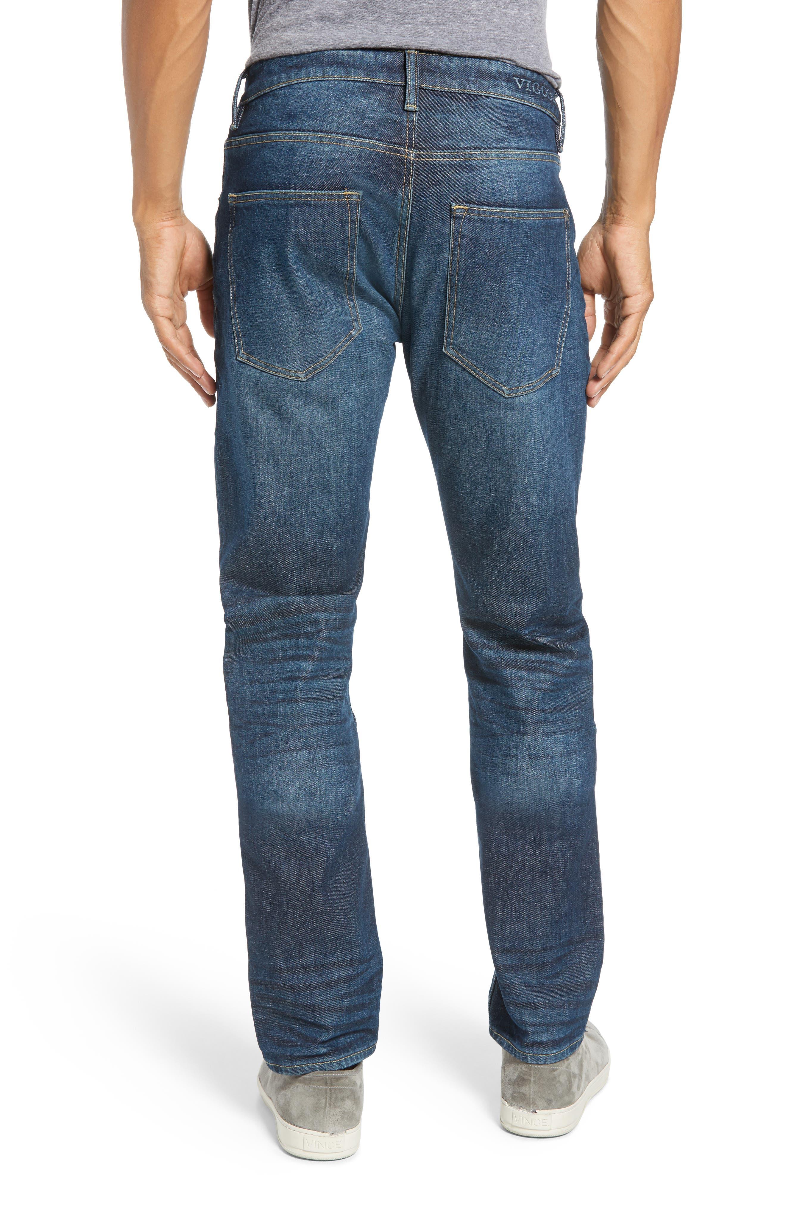 Mick Slim Fit Jeans,                             Alternate thumbnail 2, color,                             DARK 3D WASH