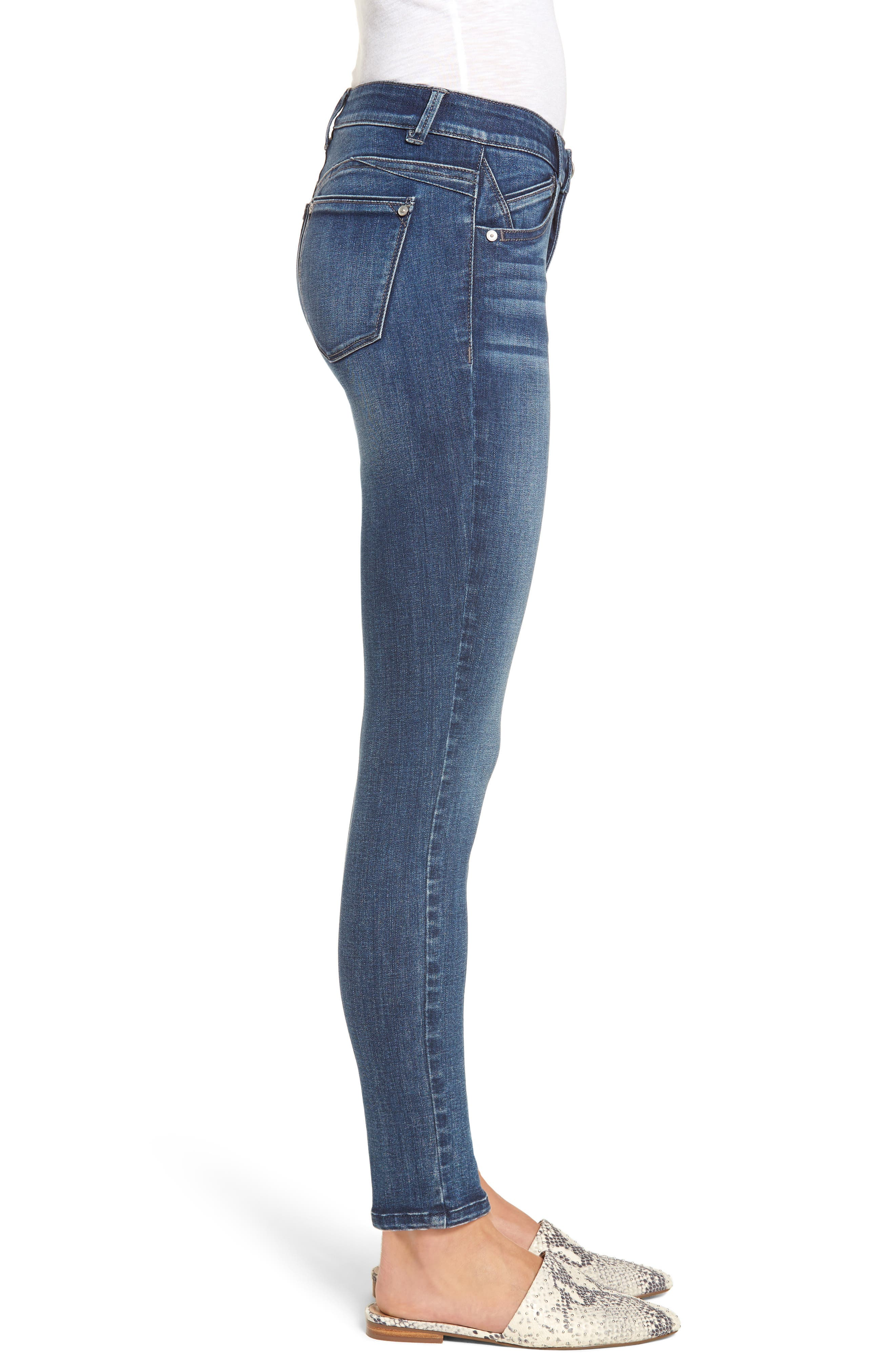 Ab-solution Ankle Skinny Jeans,                             Alternate thumbnail 3, color,                             BLUE