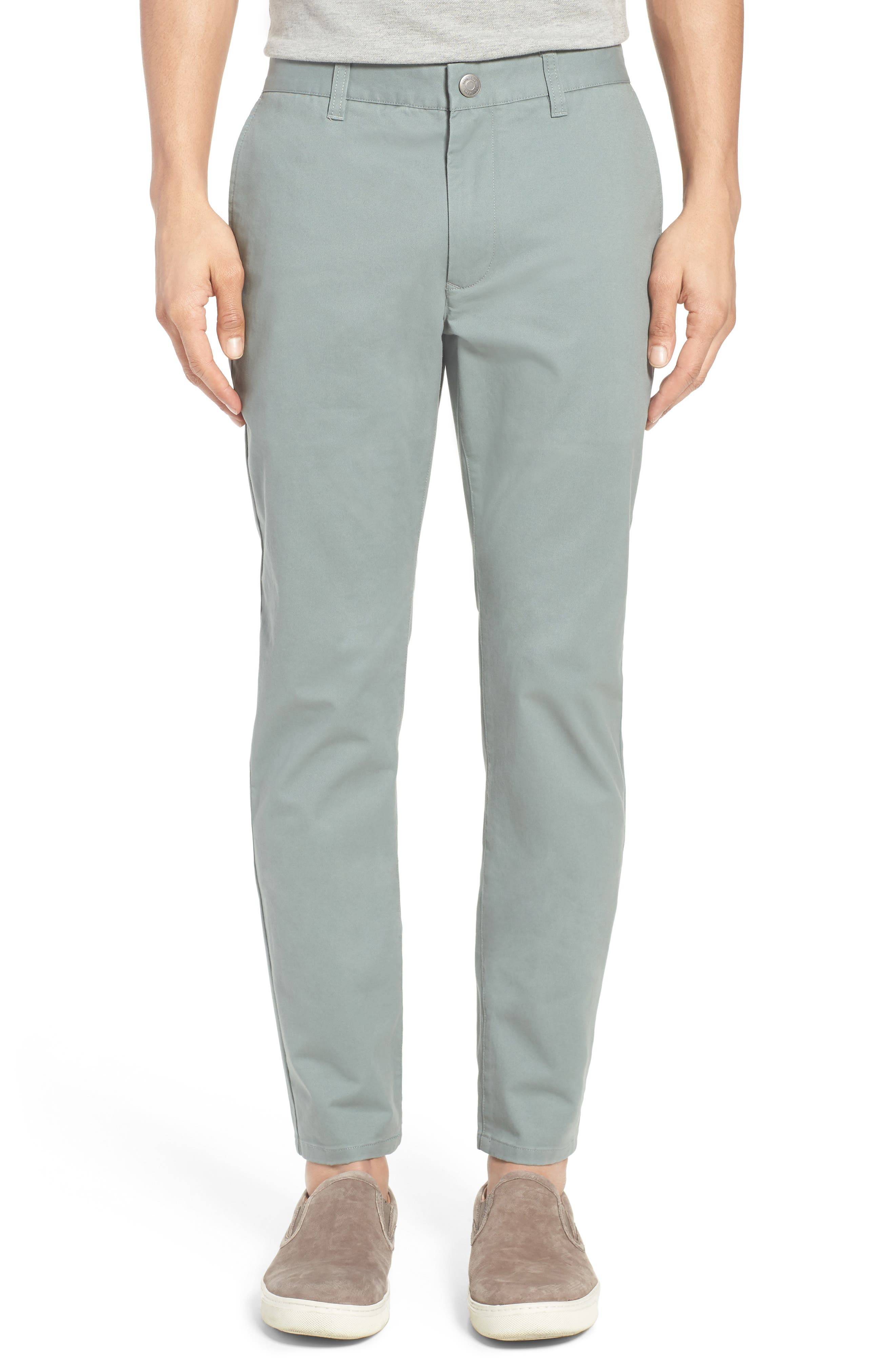 Tailored Fit Washed Stretch Cotton Chinos,                             Alternate thumbnail 135, color,