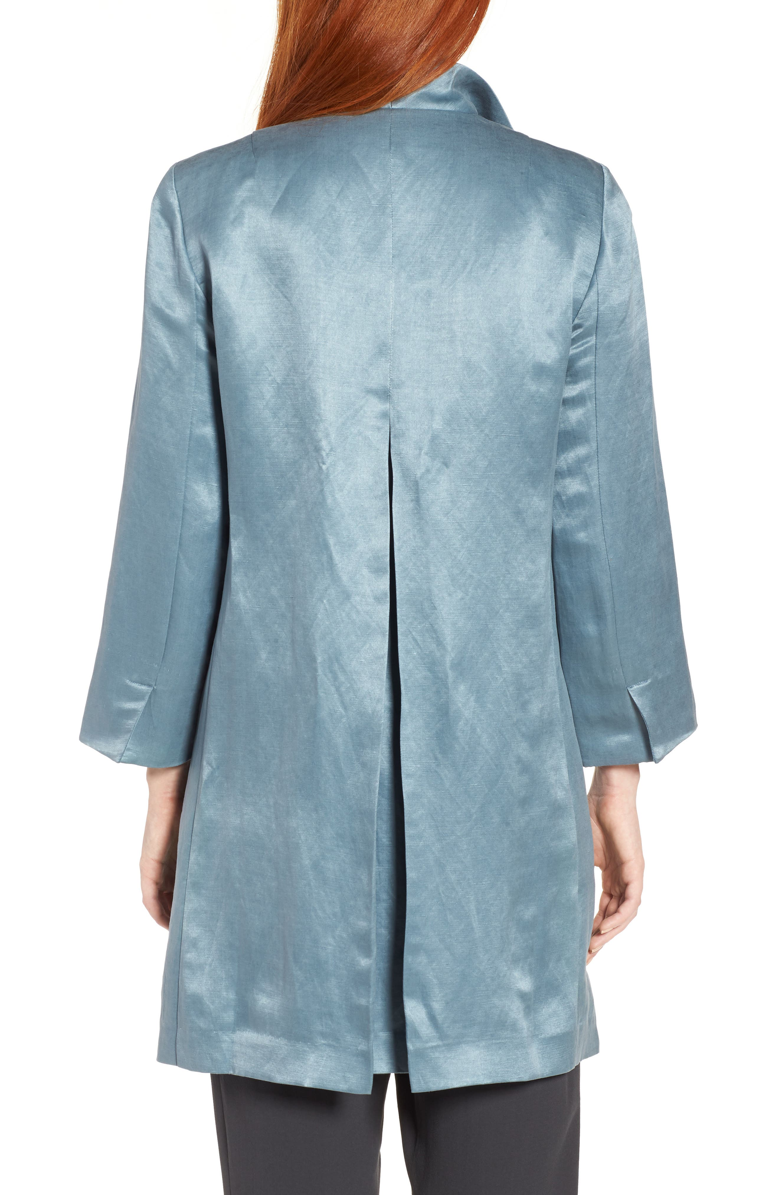 High Collar Long Jacket,                             Alternate thumbnail 8, color,