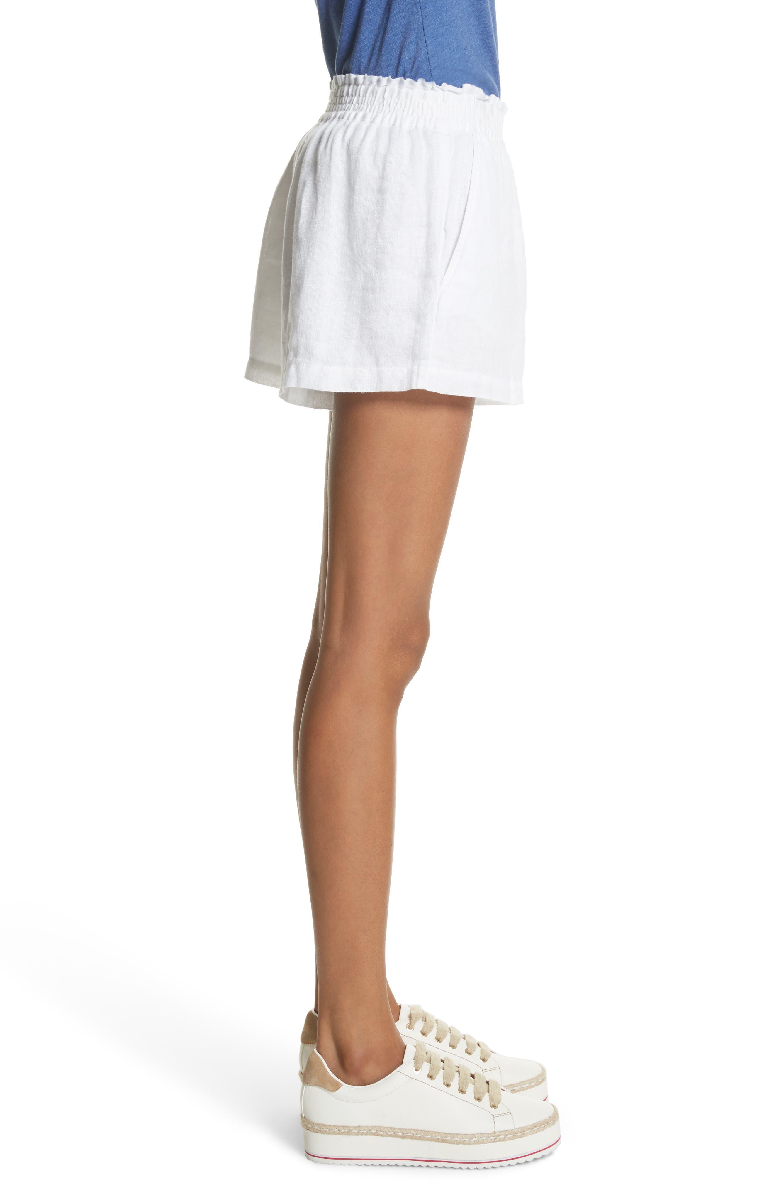 Fenna Linen Shorts,                             Alternate thumbnail 3, color,