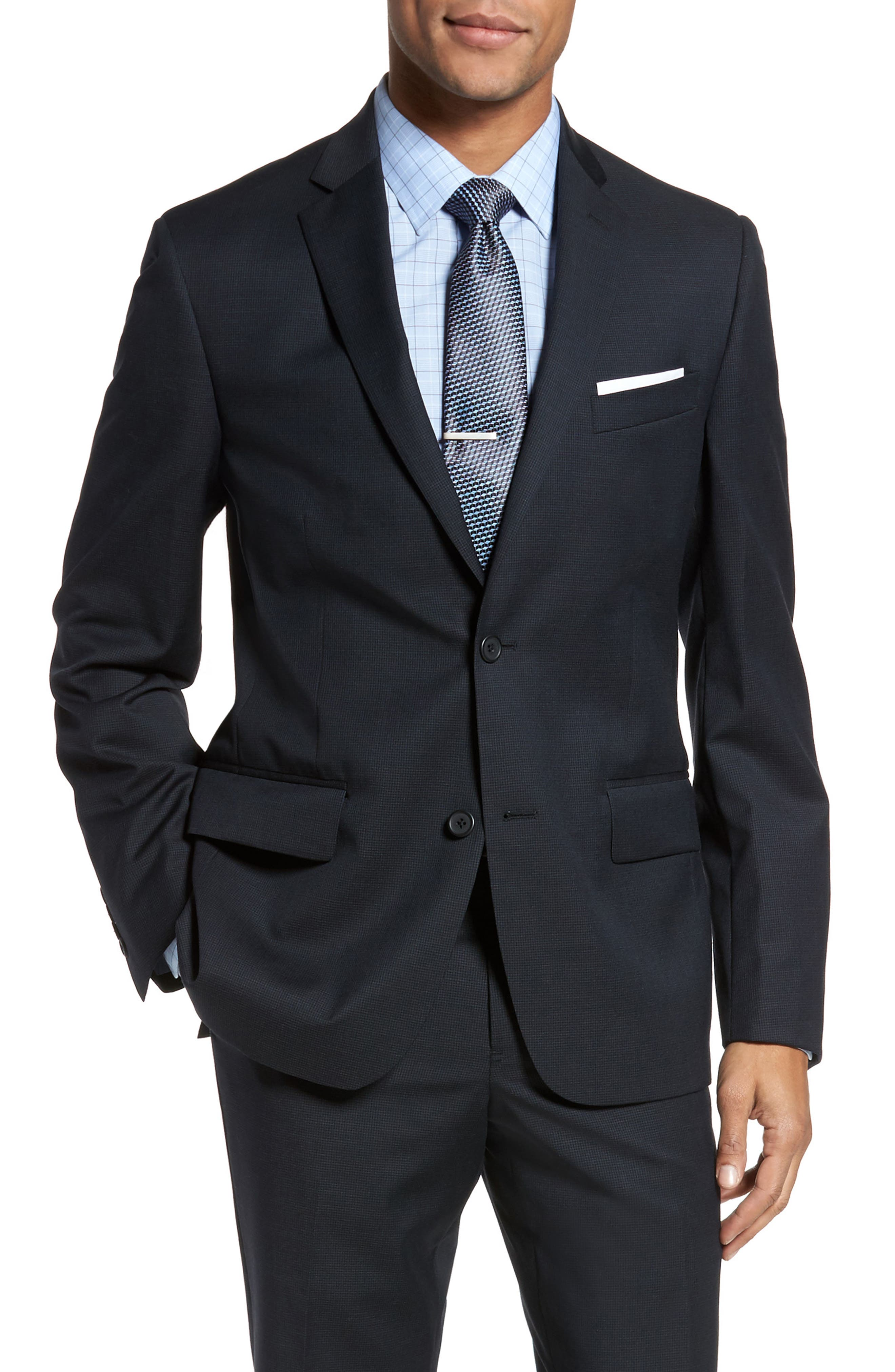 Classic Fit Check Wool Suit,                             Alternate thumbnail 19, color,
