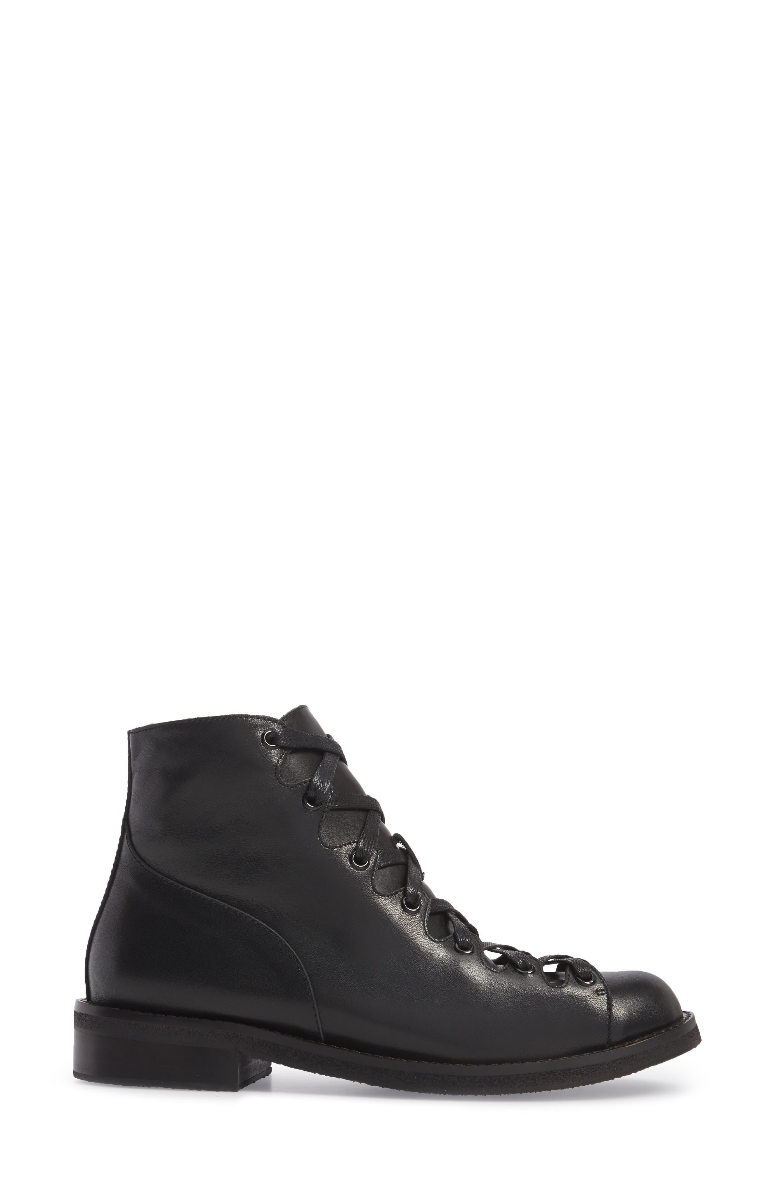 Jess Ghillie Combat Boot,                             Alternate thumbnail 3, color,                             001