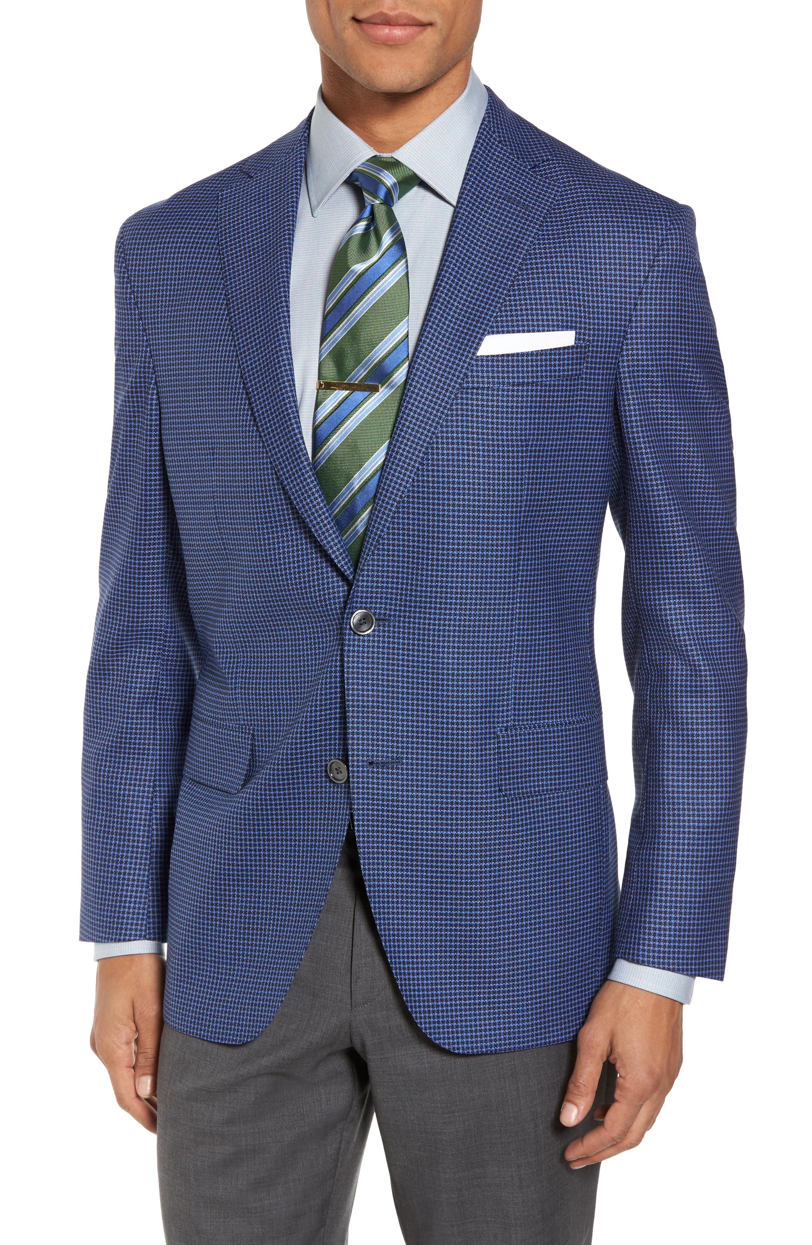 Arnold Classic Fit Check Wool Sport Coat,                             Main thumbnail 1, color,