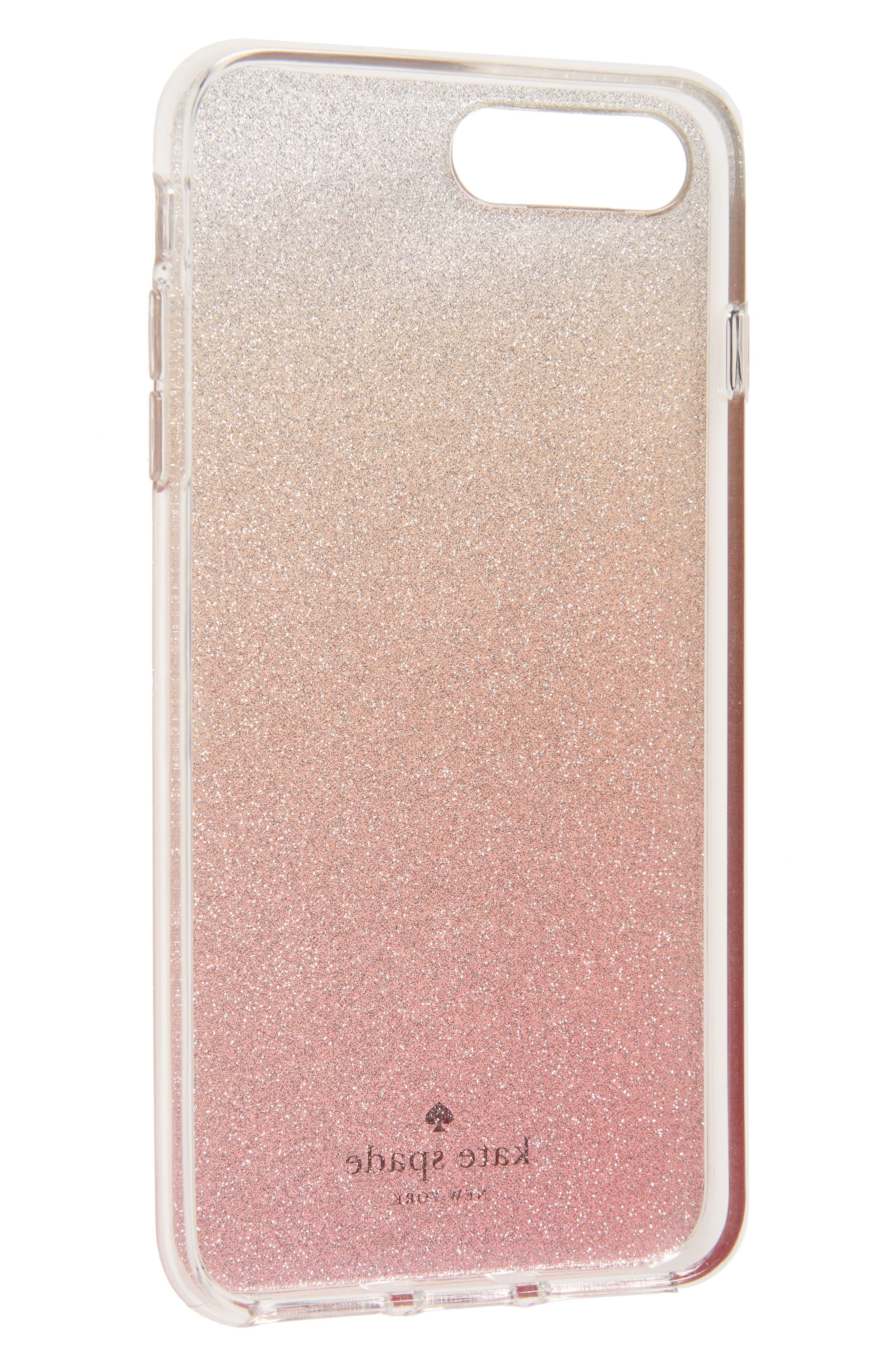 glitter ombré iPhone 7/8 & 7/8 Plus case<br />,                             Alternate thumbnail 2, color,                             PINK GLITTER