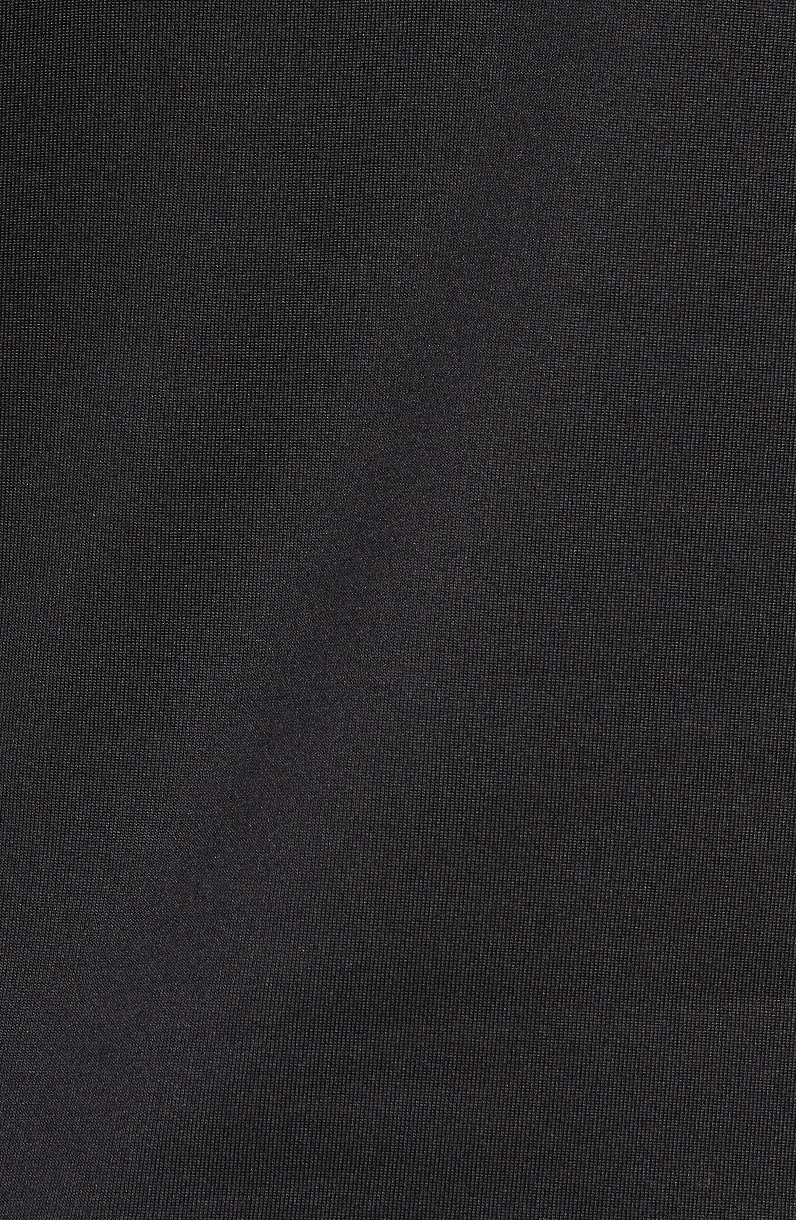 Crosstrek Quarter Zip Fleece Pullover,                             Alternate thumbnail 5, color,                             BLACK