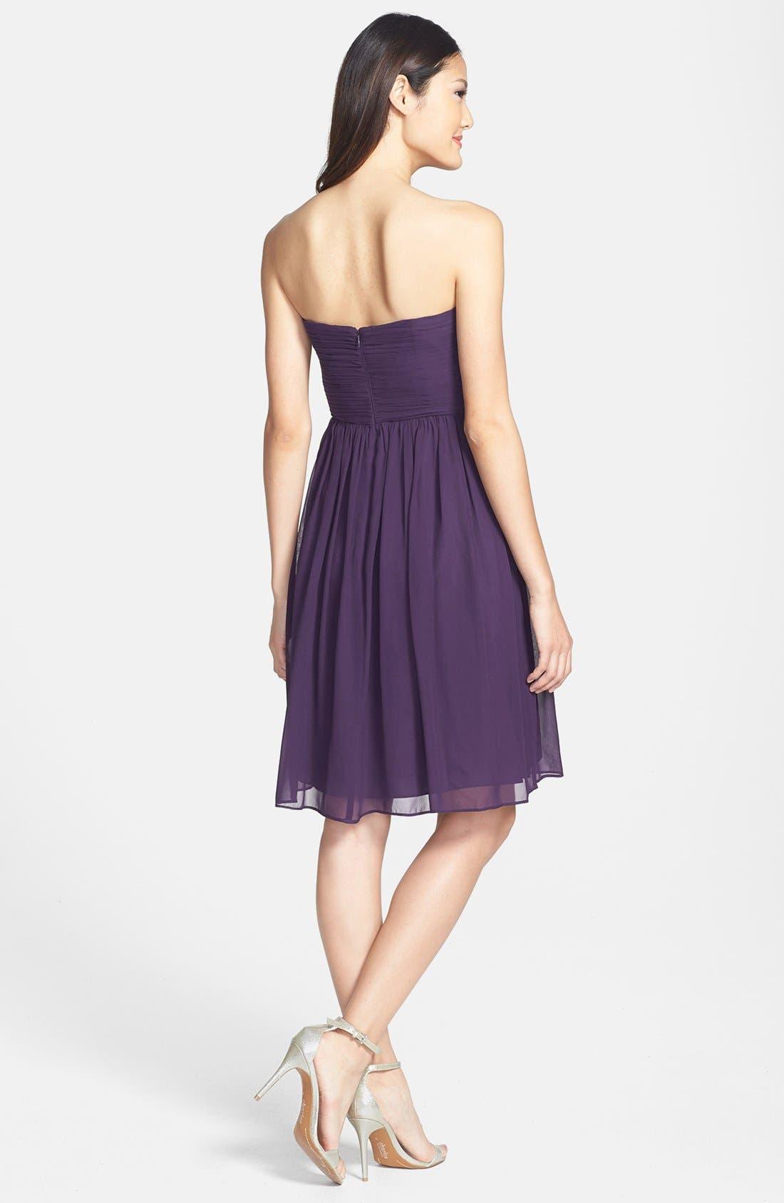 'Morgan' Strapless Silk Chiffon Dress,                             Alternate thumbnail 139, color,