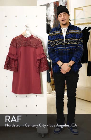 Lace Panel Bell Sleeve Tunic Dress, sales video thumbnail