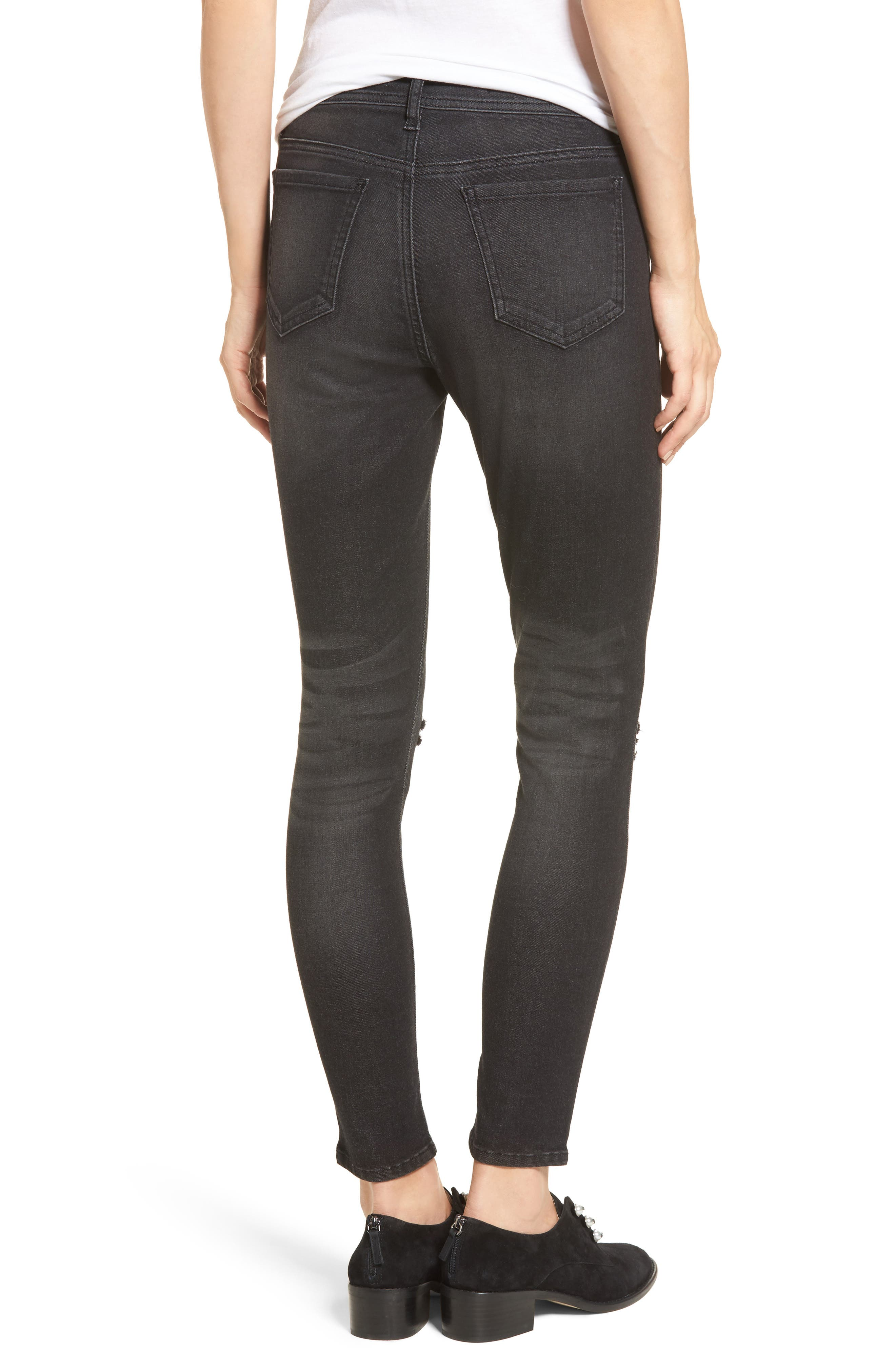 Ripped Skinny Jeans,                             Alternate thumbnail 2, color,                             001