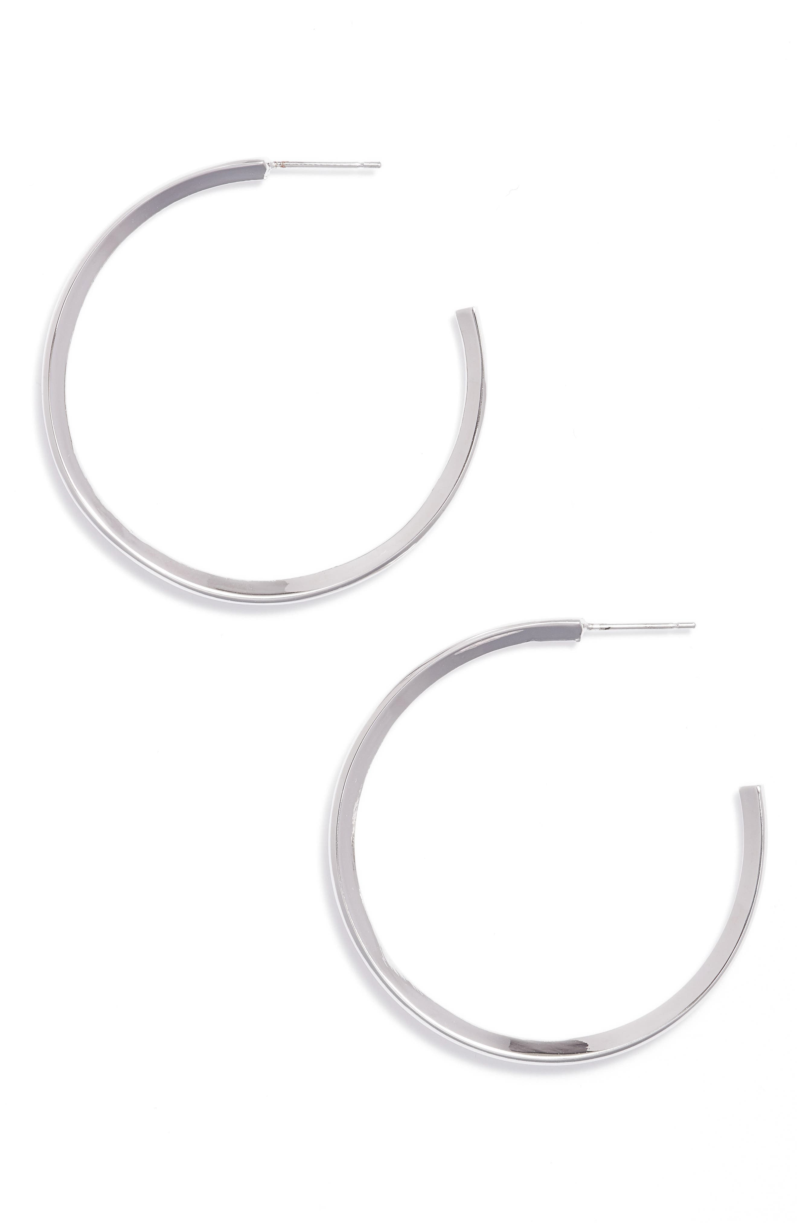 Diamond Shaped Hoop Earrings,                             Main thumbnail 1, color,                             040