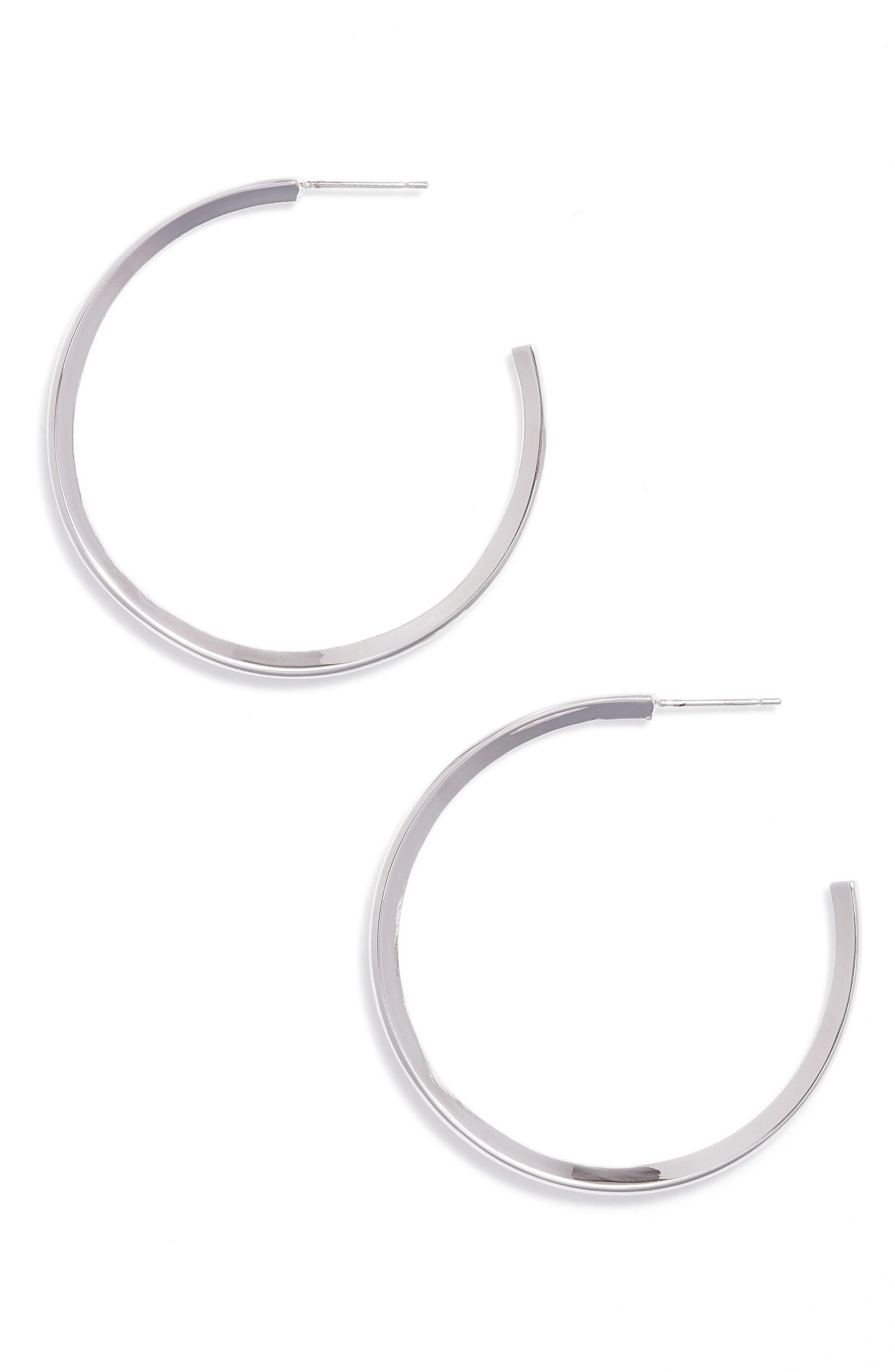 Diamond Shaped Hoop Earrings,                         Main,                         color, 040