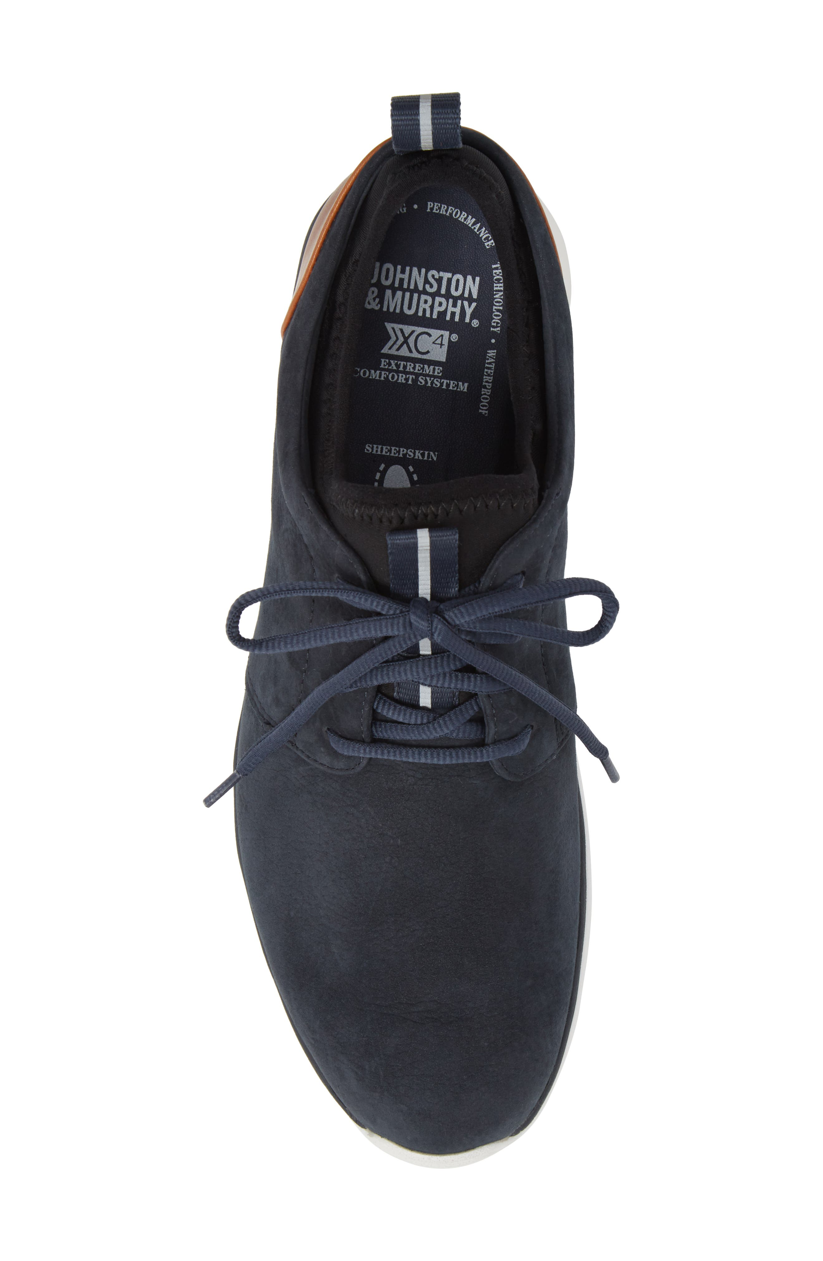 Prentiss XC4<sup>®</sup> Waterproof Low Top Sneaker,                             Alternate thumbnail 5, color,                             NAVY NUBUCK