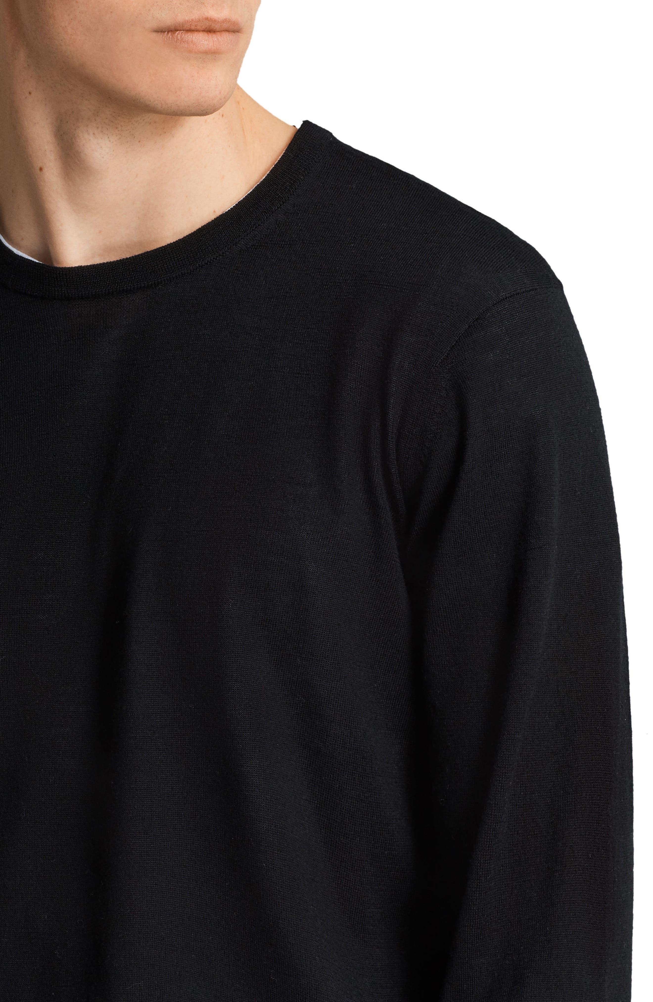Lang Crewneck Wool Sweater,                             Alternate thumbnail 3, color,                             001