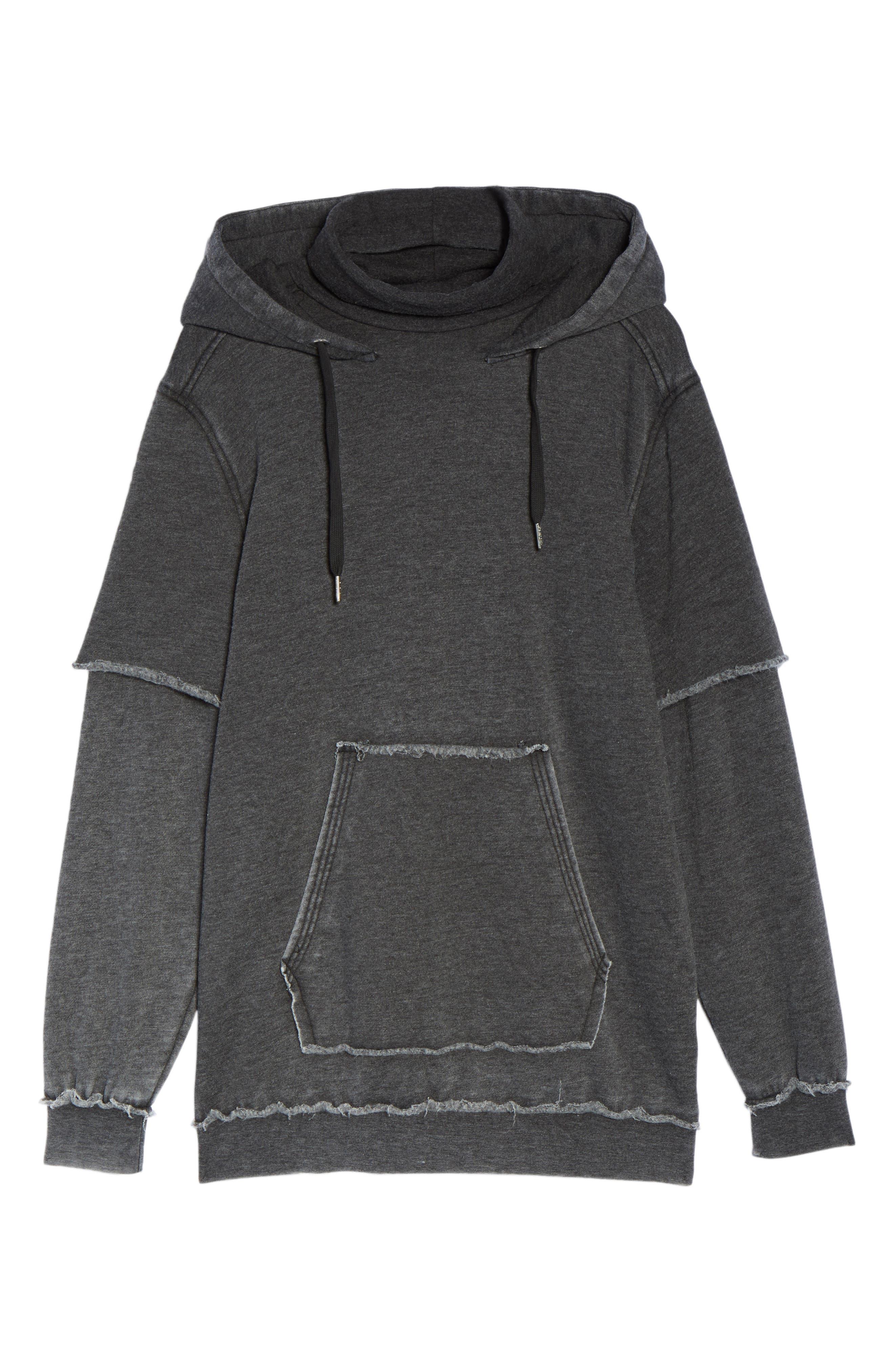 Good Hood Sweatshirt Dress,                             Alternate thumbnail 6, color,                             020