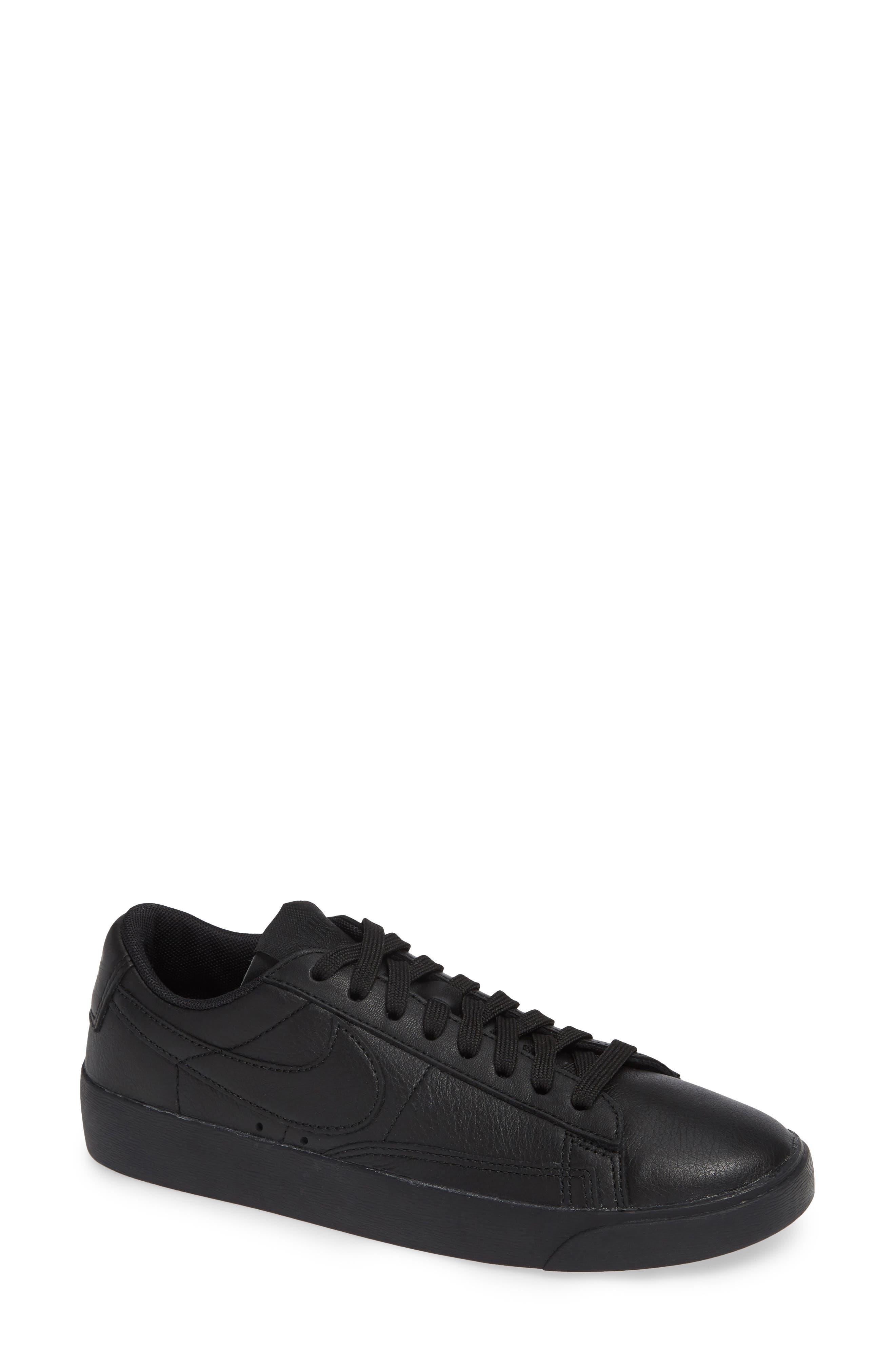 Blazer Low SE Sneaker,                             Main thumbnail 1, color,                             BLACK/ BLACK-BLACK