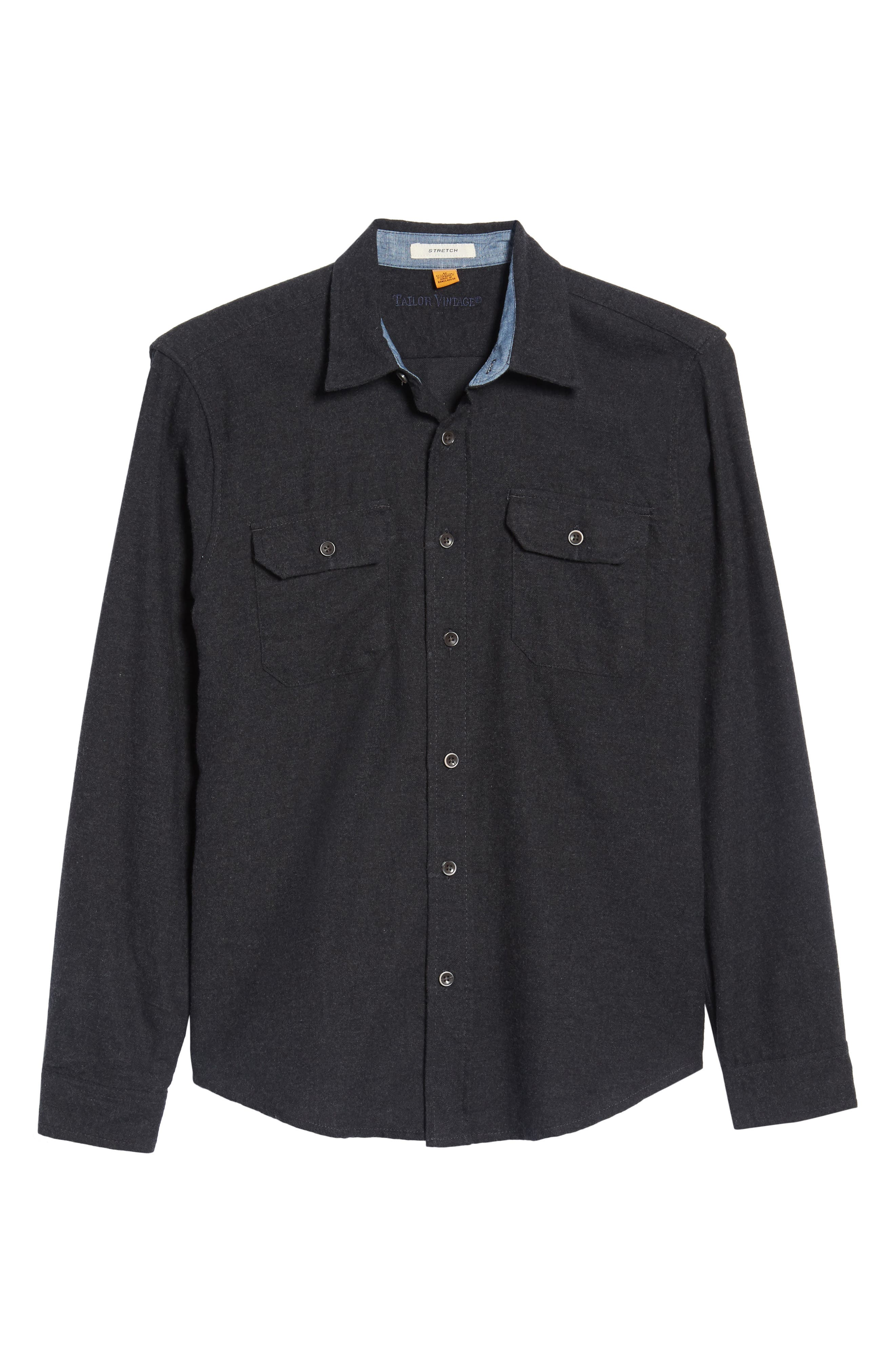 Heather Flannel Shirt,                             Alternate thumbnail 6, color,                             013
