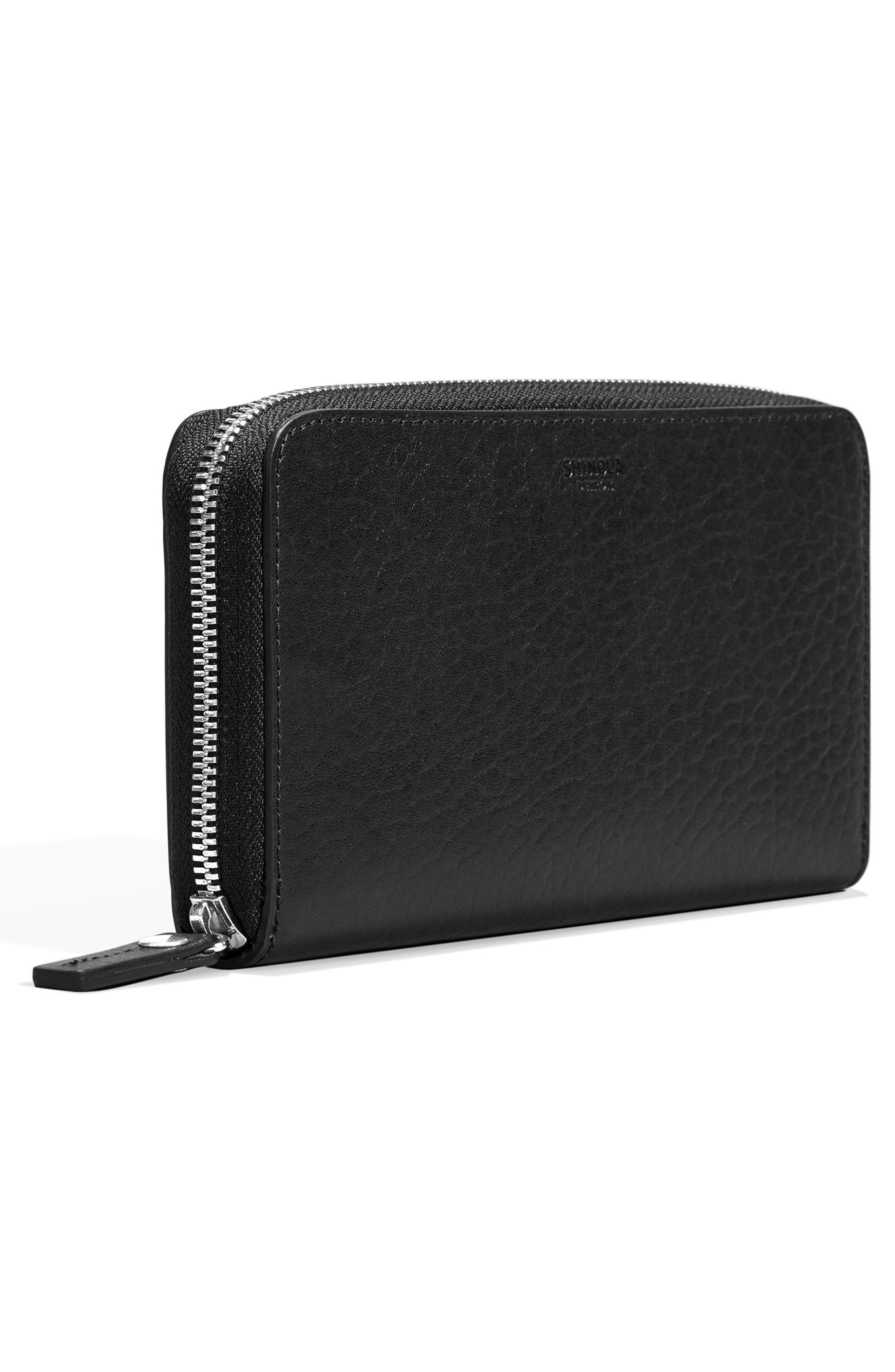 Signature Lea Leather Continental Wallet,                             Alternate thumbnail 2, color,                             BLACK