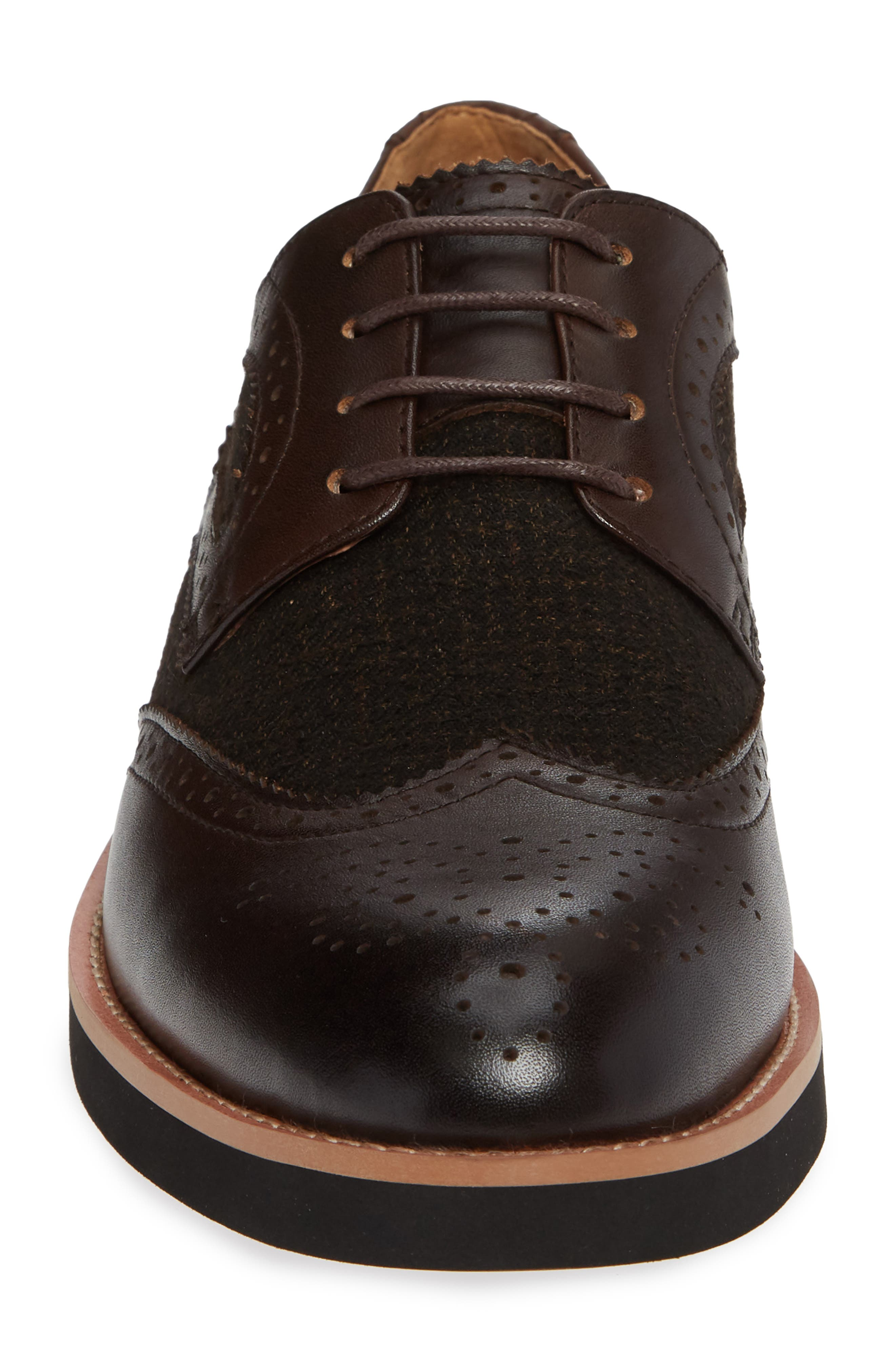 Bolton Wingtip,                             Alternate thumbnail 4, color,                             BROWN