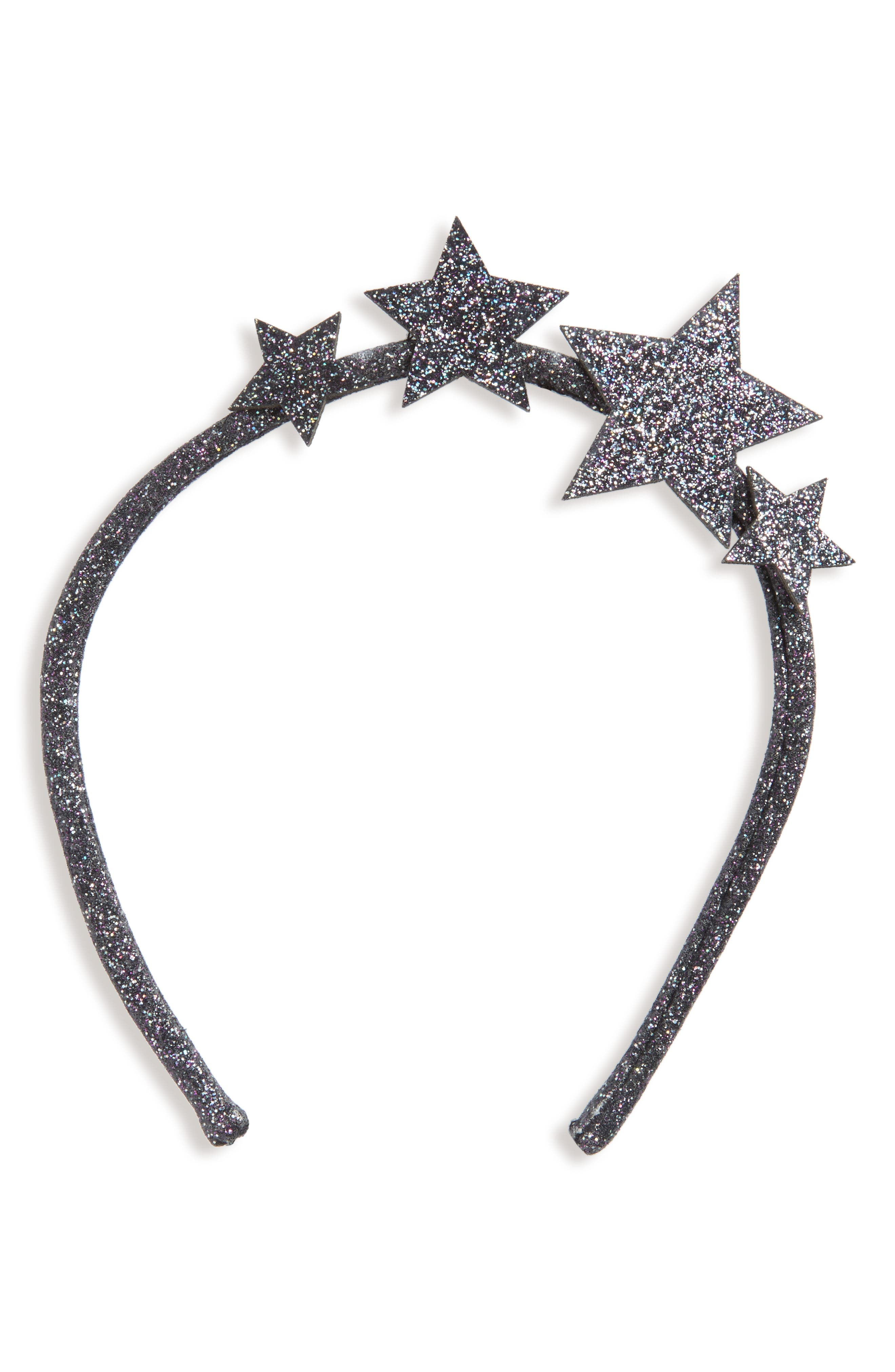Wild and Gorgeous Glitter Star Headband,                         Main,                         color, 001