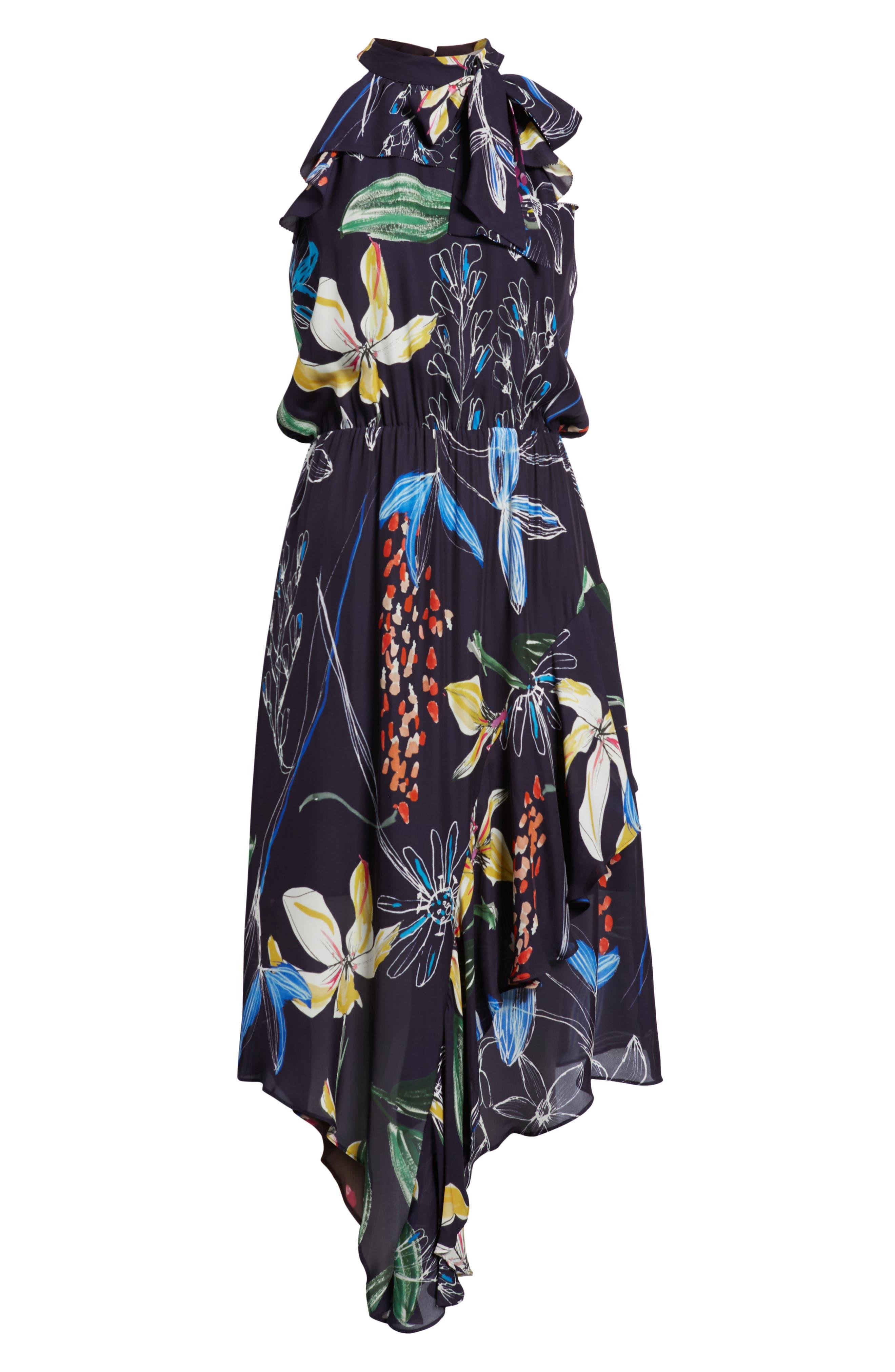 Julieta Tiered Dress,                             Alternate thumbnail 6, color,                             COSMIC FLEUR