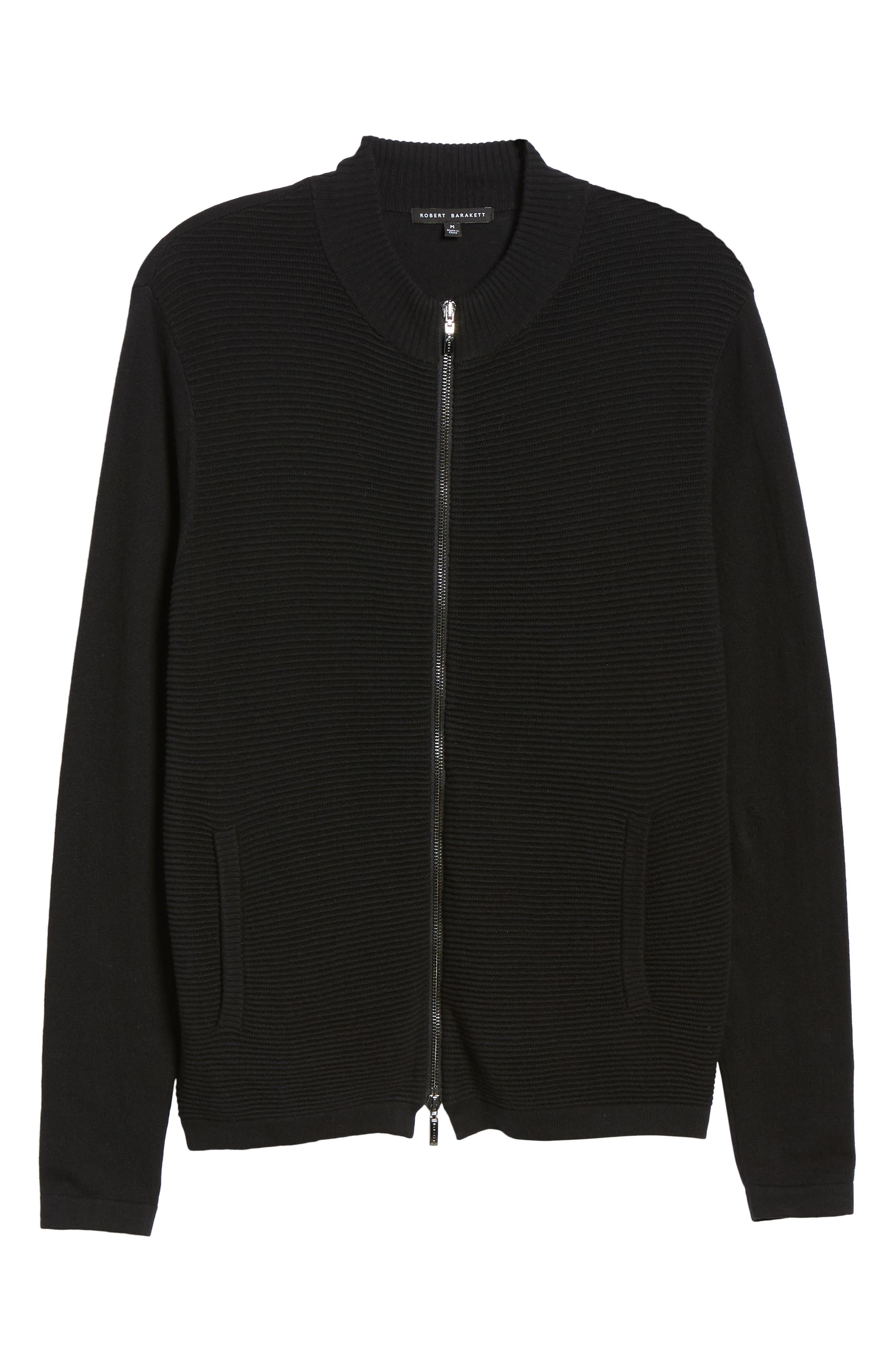 Yorkville Zip Sweater,                             Alternate thumbnail 6, color,                             BLACK