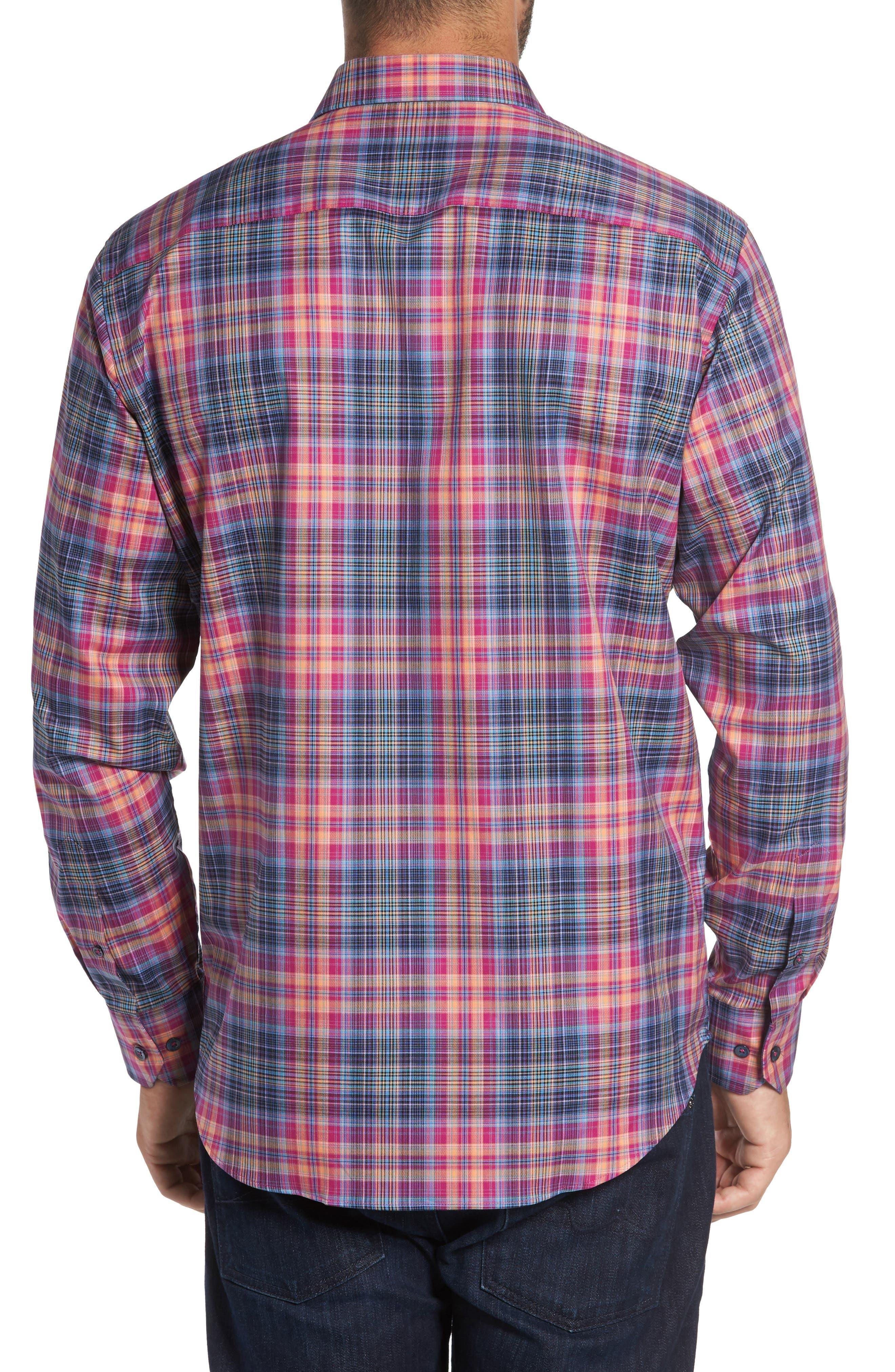 Classic Fit Plaid Sport Shirt,                             Alternate thumbnail 2, color,                             537