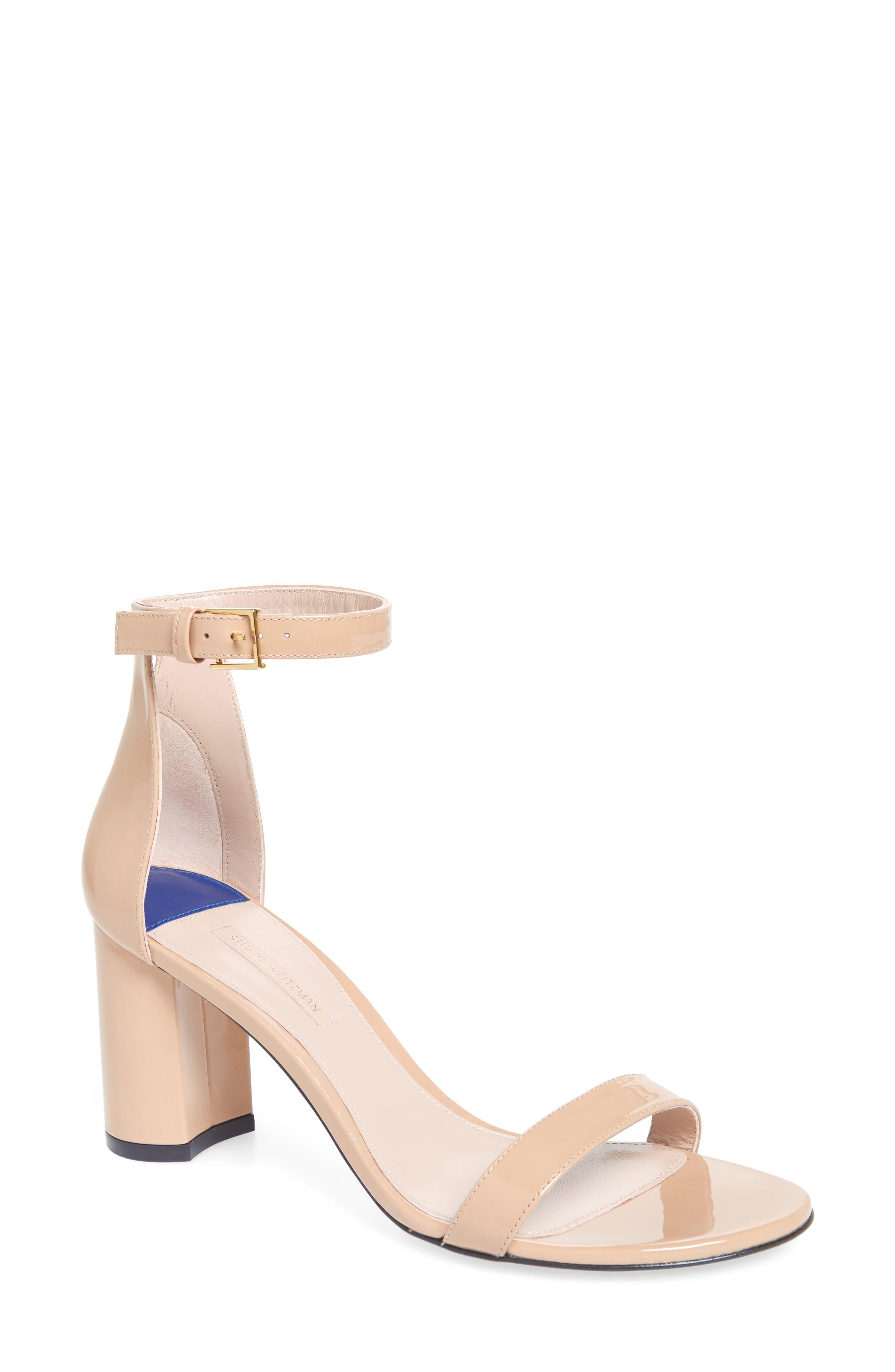 75LESSNUDIST Ankle Strap Sandal,                         Main,                         color, ADOBE CRISTAL
