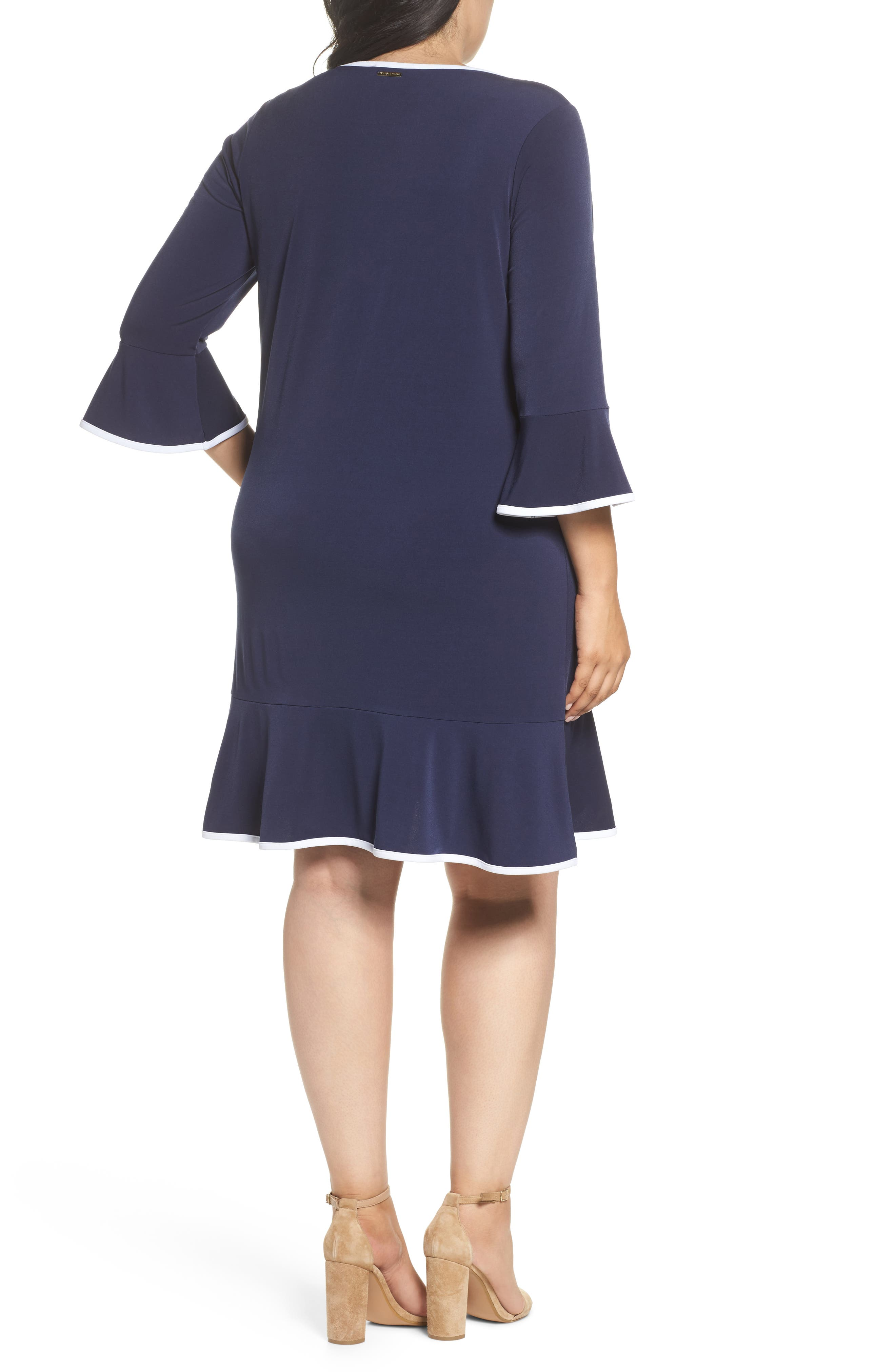 Solid Flounce Dress,                             Alternate thumbnail 4, color,