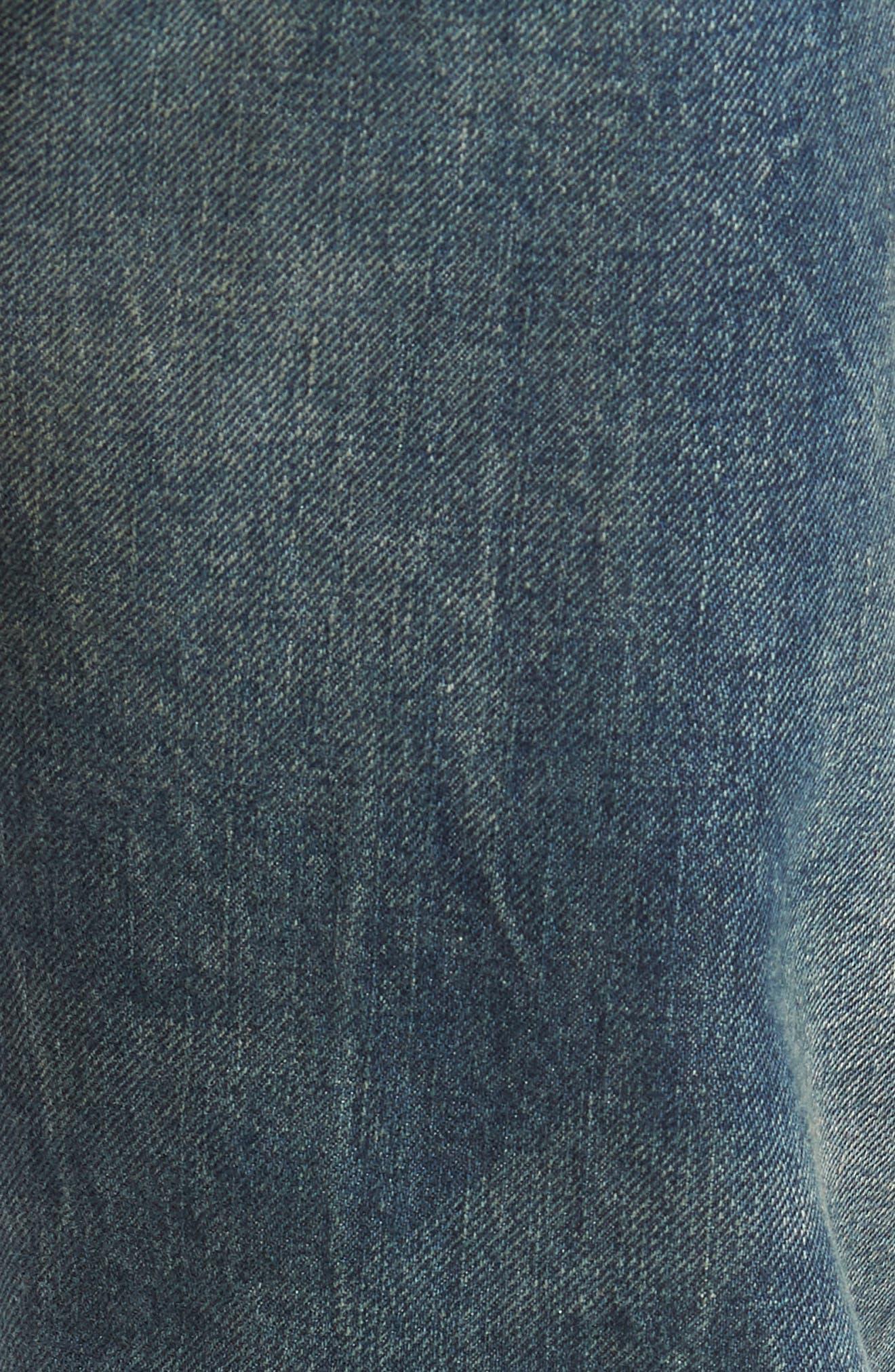 501<sup>®</sup> Original Straight Leg Selvedge Jeans,                             Alternate thumbnail 5, color,                             401