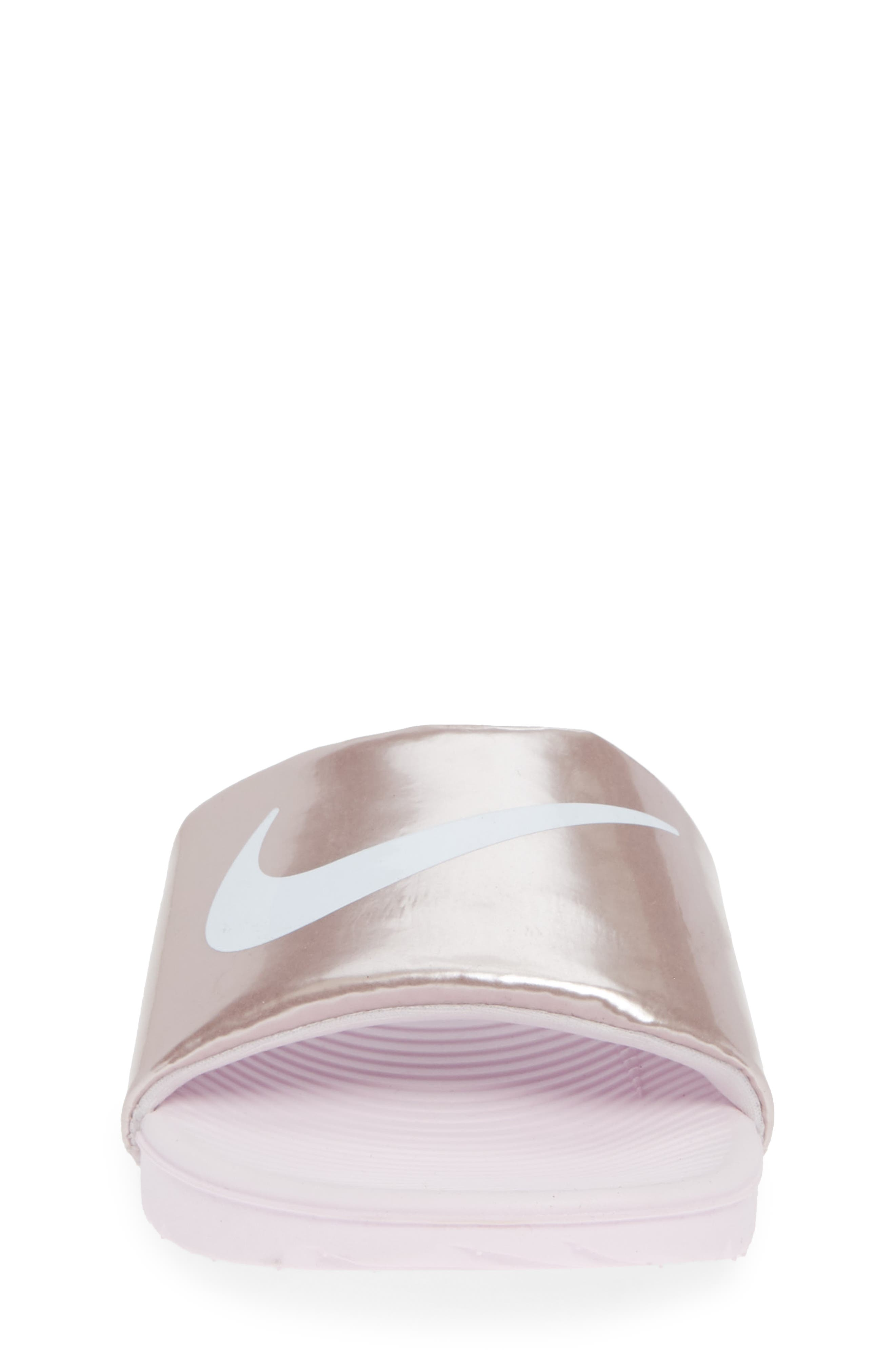 NIKE,                             'Kawa' Slide Sandal,                             Alternate thumbnail 4, color,                             ARCTIC PINK/ WHITE/ RED BRONZE