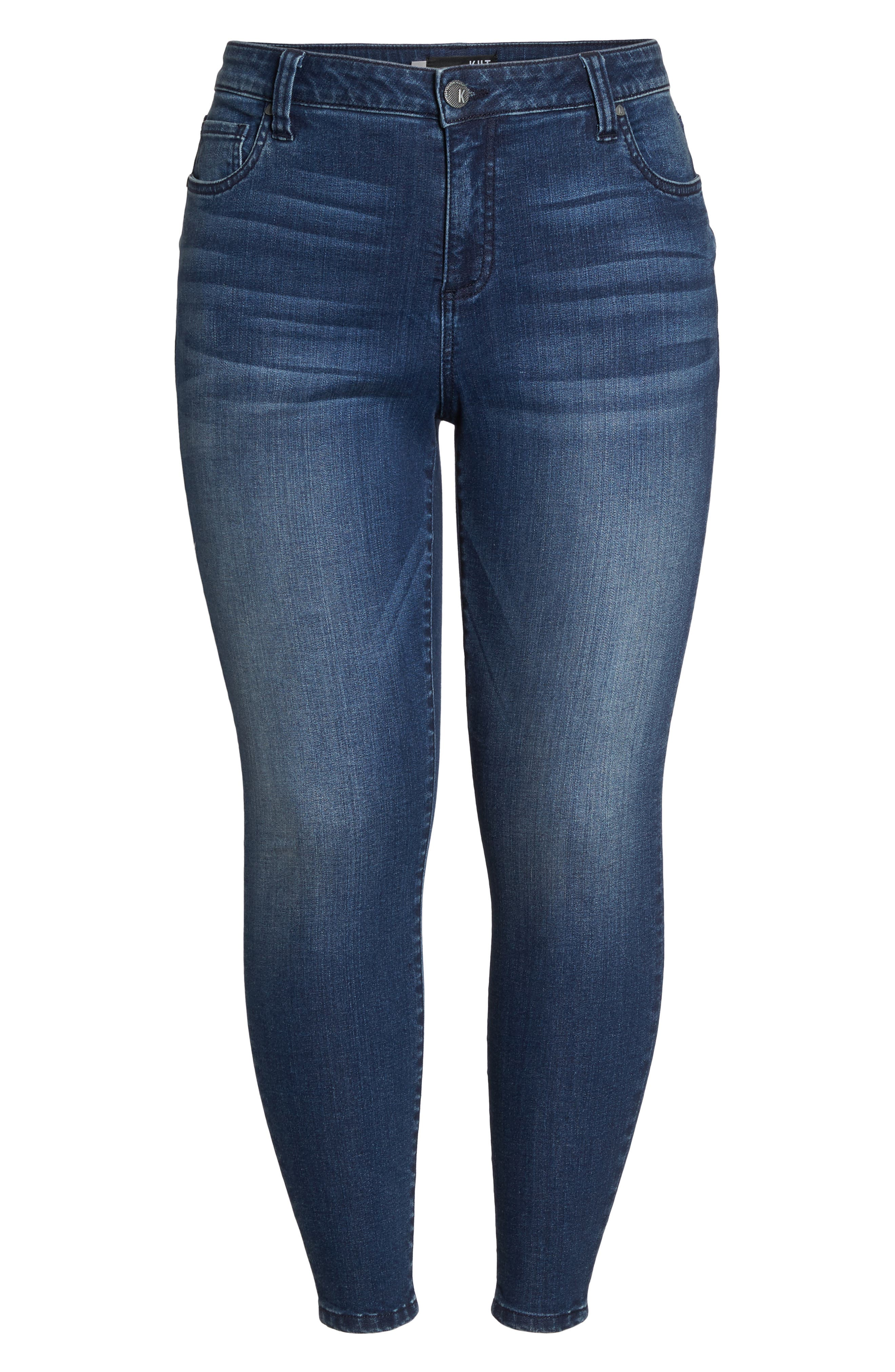 Donna Skinny Ankle Jeans,                             Alternate thumbnail 6, color,                             CHEERED