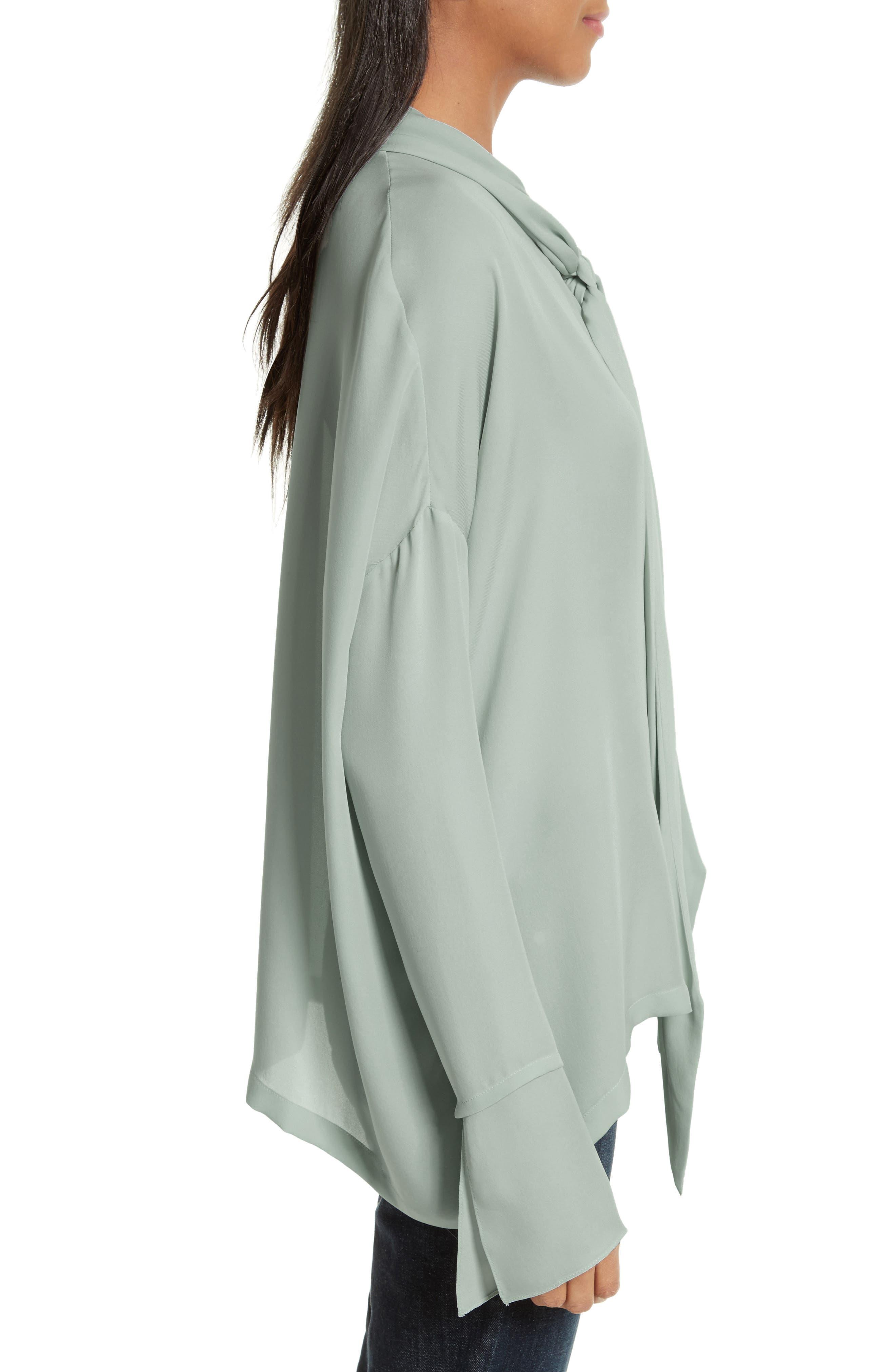 Silk Scarf Shirt,                             Alternate thumbnail 3, color,                             392