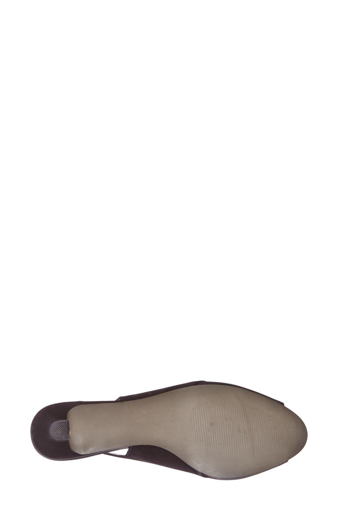 'Palm' Slingback Satin Sandal,                             Alternate thumbnail 4, color,                             001